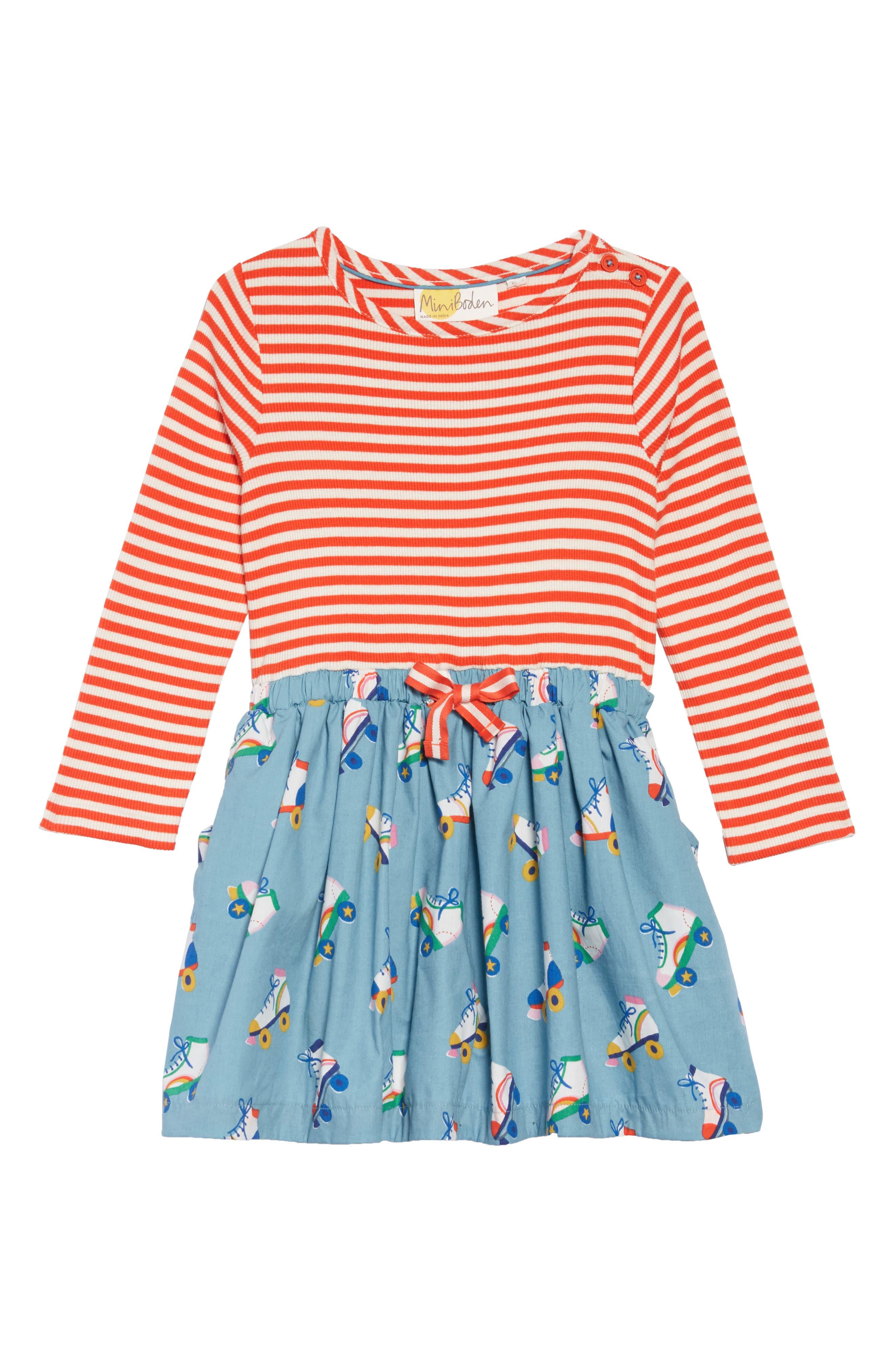 Hopscotch Dress,                             Main thumbnail 1, color,                             BLUE ROLLER SKATES
