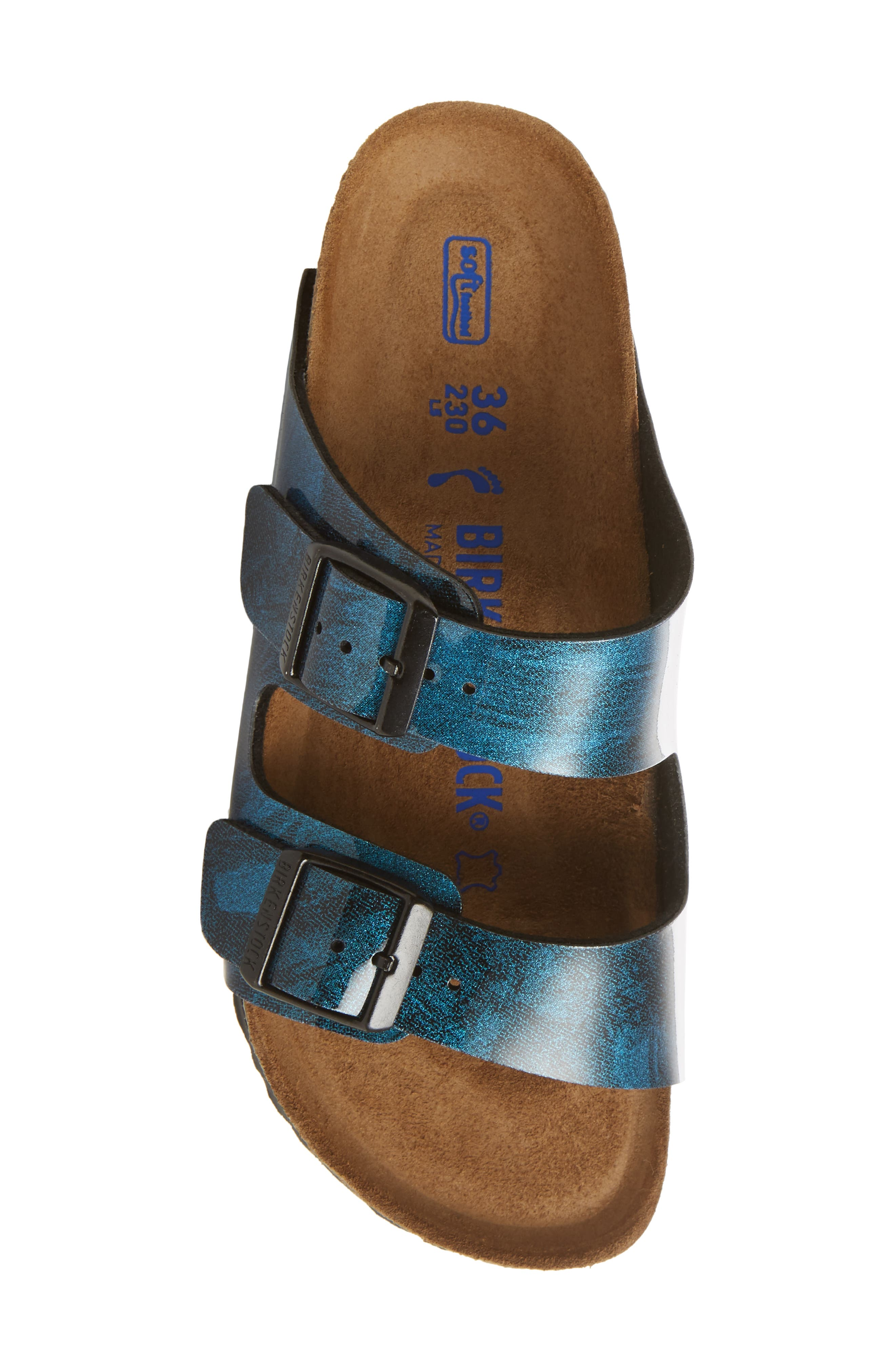 Arizona Birko-Flor Soft Footbed Sandal,                             Alternate thumbnail 5, color,                             MILKY WAY BLUE