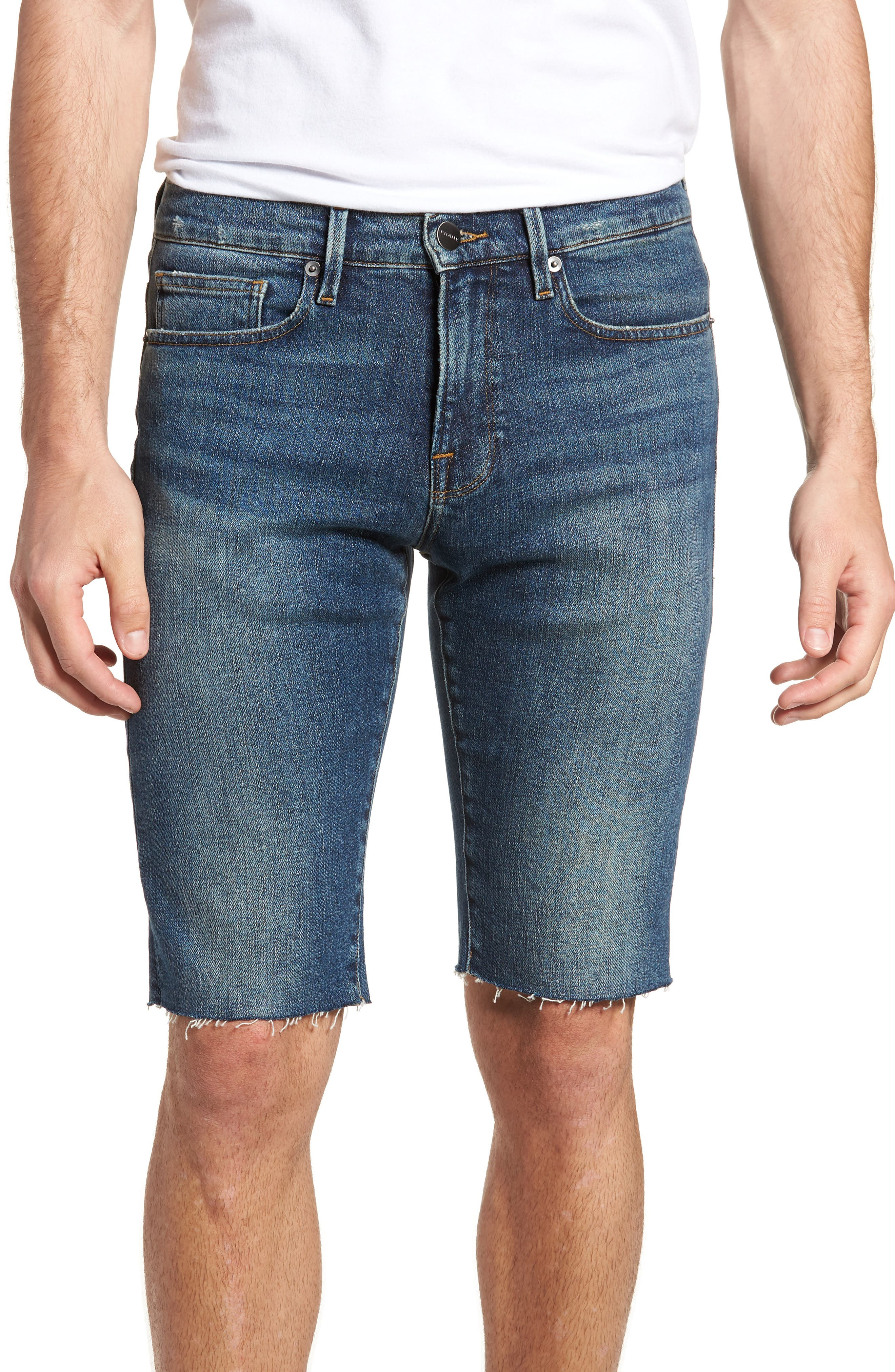 L'Homme Cutoff Shorts,                         Main,                         color, KIRBY