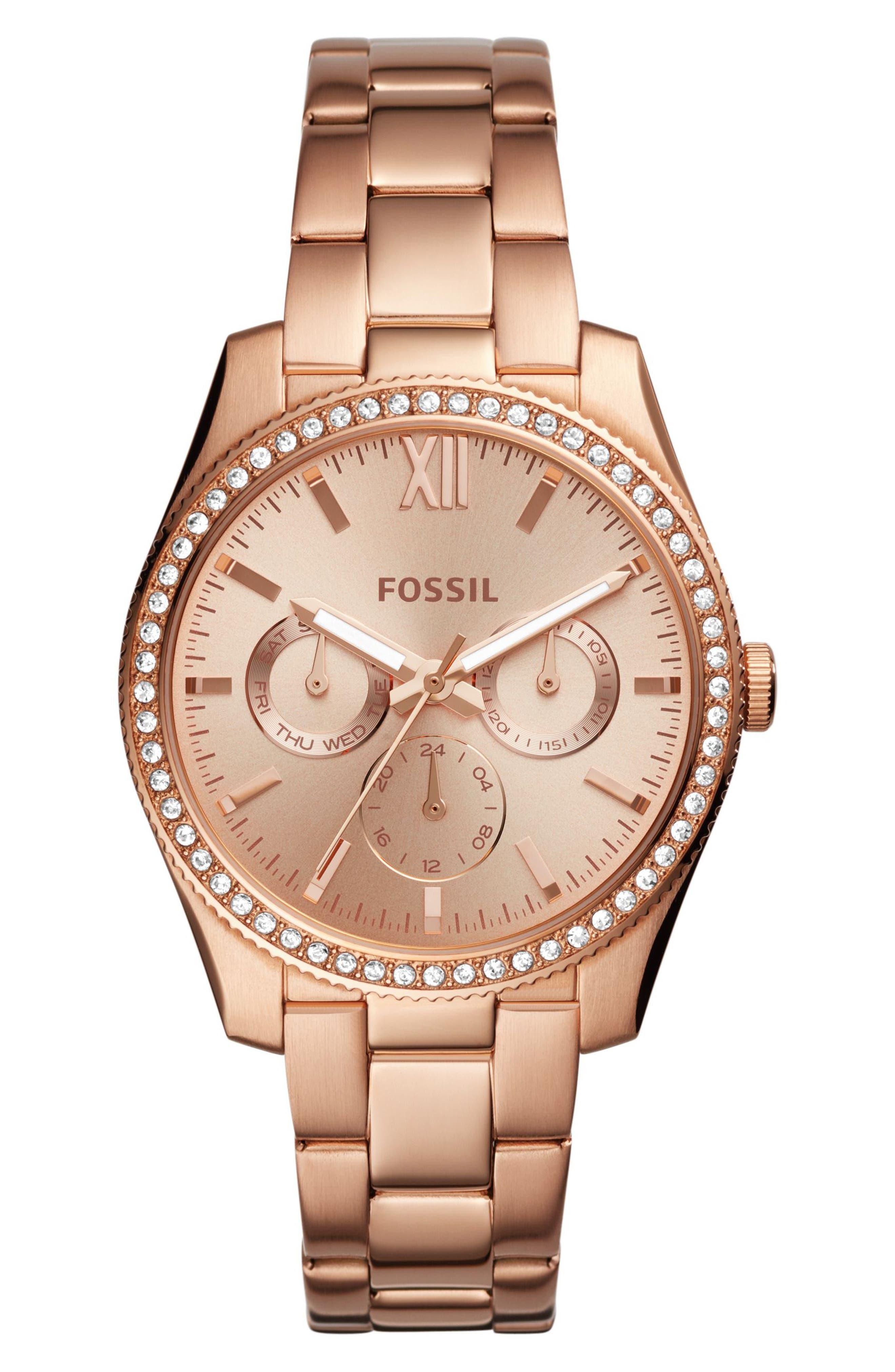 Scarlette Multifunction Crystal Bracelet Watch, 38mm,                             Main thumbnail 2, color,