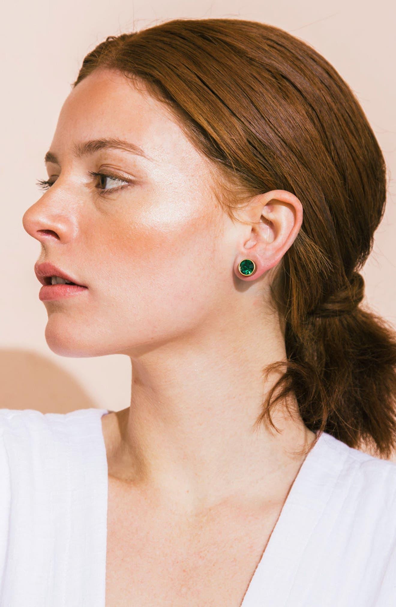 Bezel Set Stud Earrings,                             Main thumbnail 6, color,