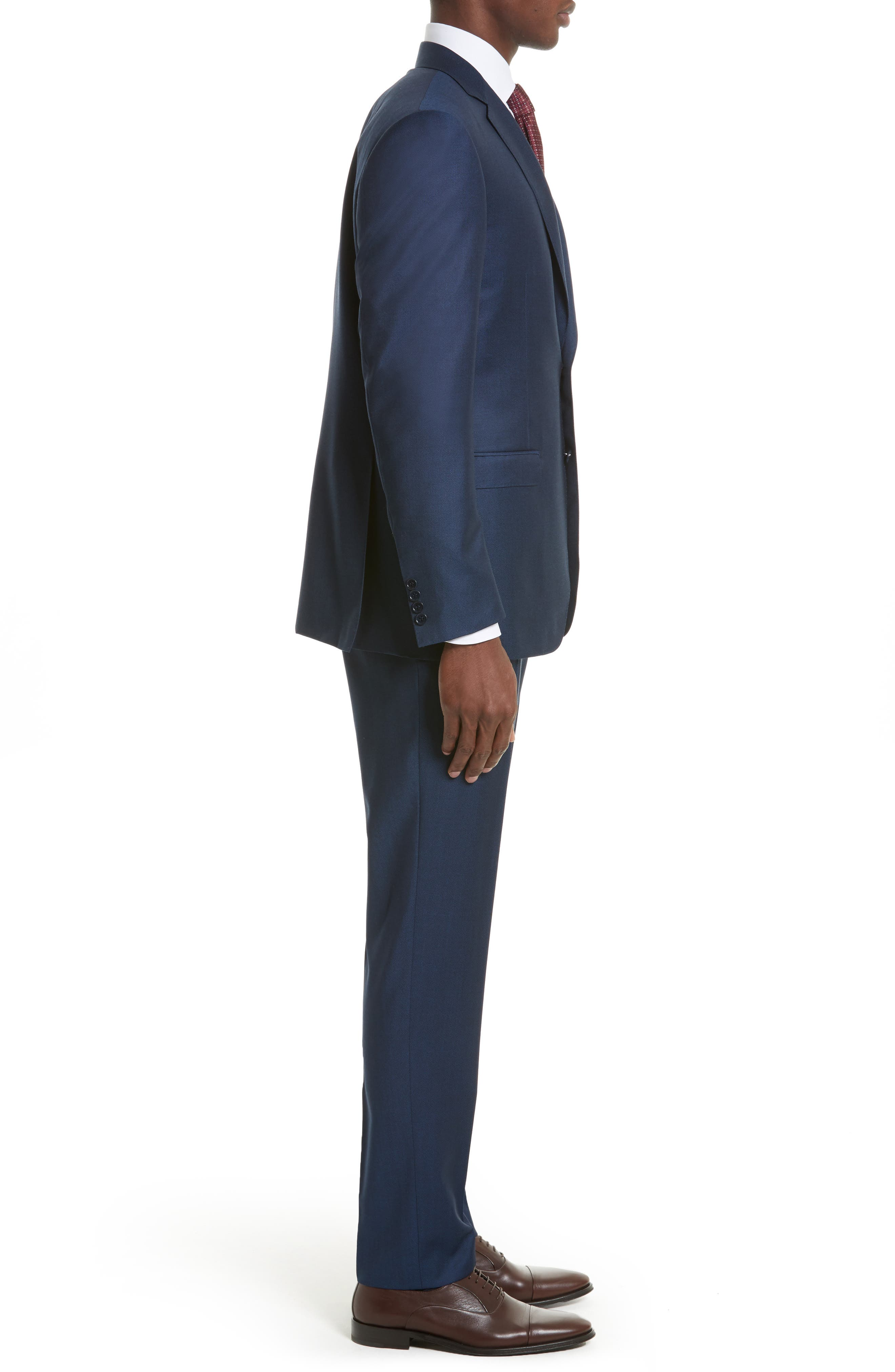 Classic Fit Solid Wool Suit,                             Alternate thumbnail 3, color,                             400