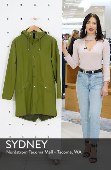 Waterproof Hooded Long Rain Jacket, sales video thumbnail