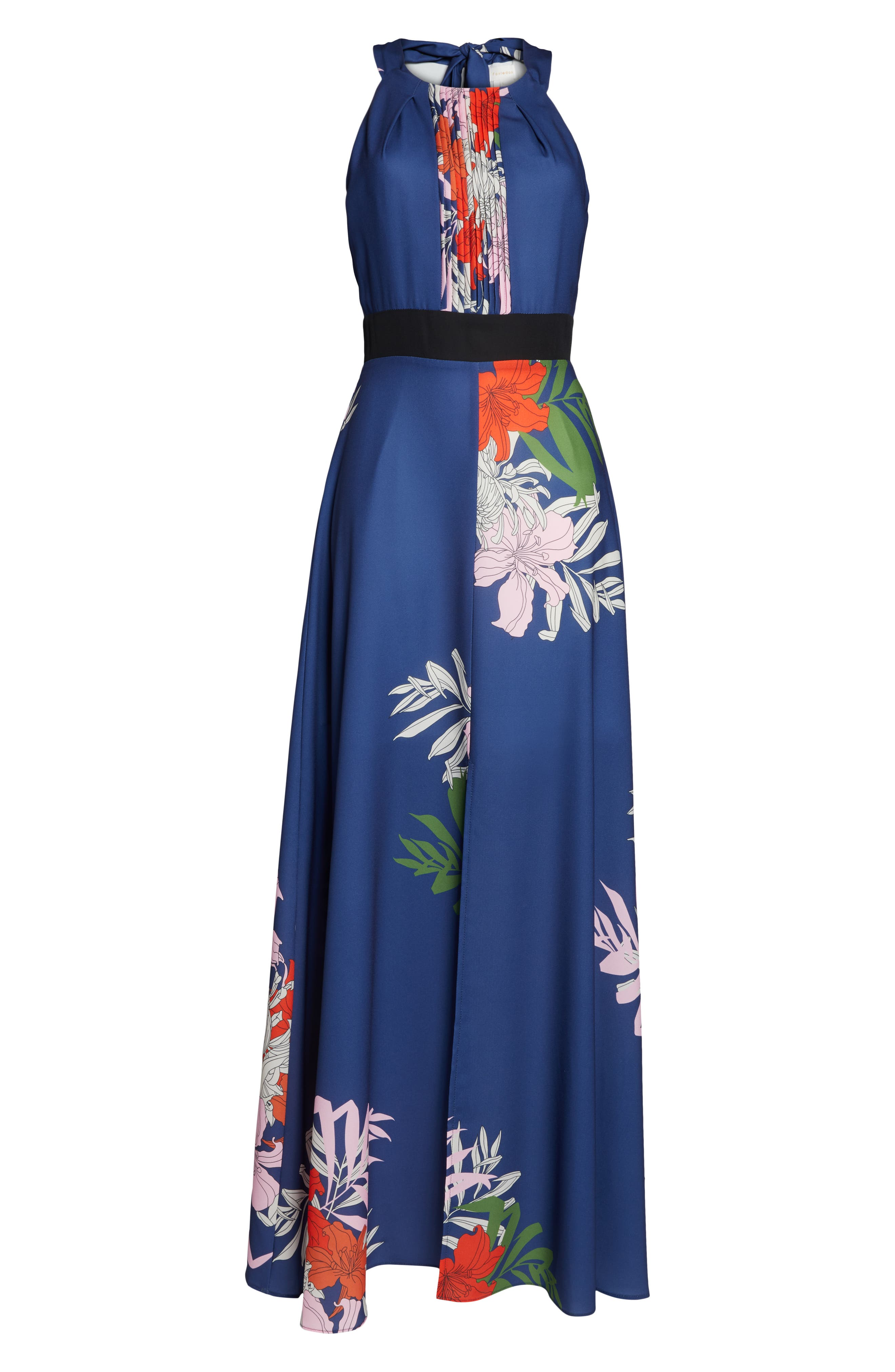Palmira Maxi Dress,                             Alternate thumbnail 7, color,                             NAVY MULTI