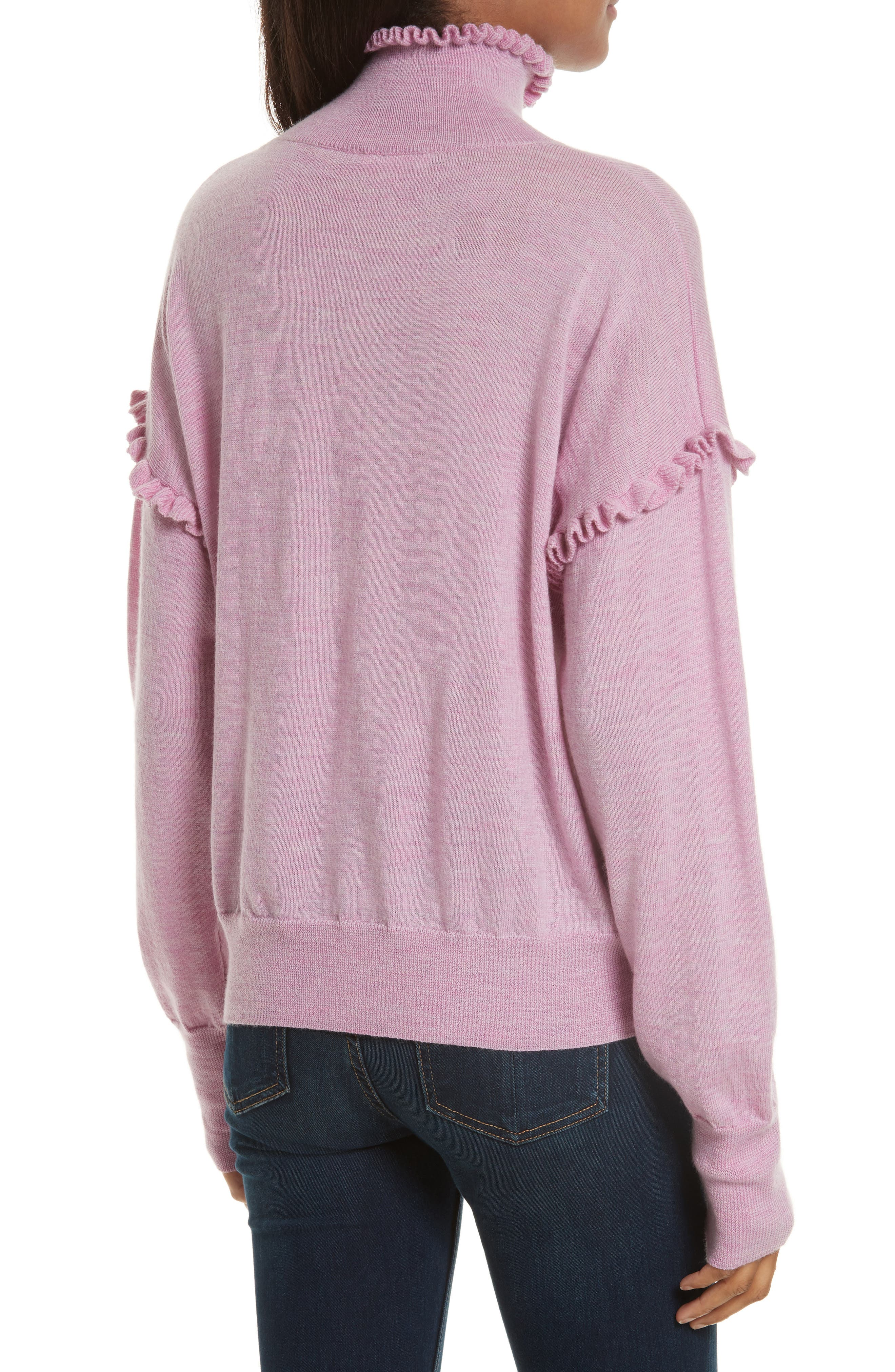 Turtleneck Merino Wool Sweater,                             Alternate thumbnail 2, color,