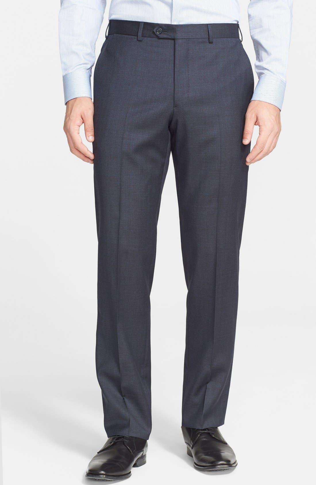 'G-Line' Trim Fit Solid Wool Suit,                             Alternate thumbnail 5, color,                             410