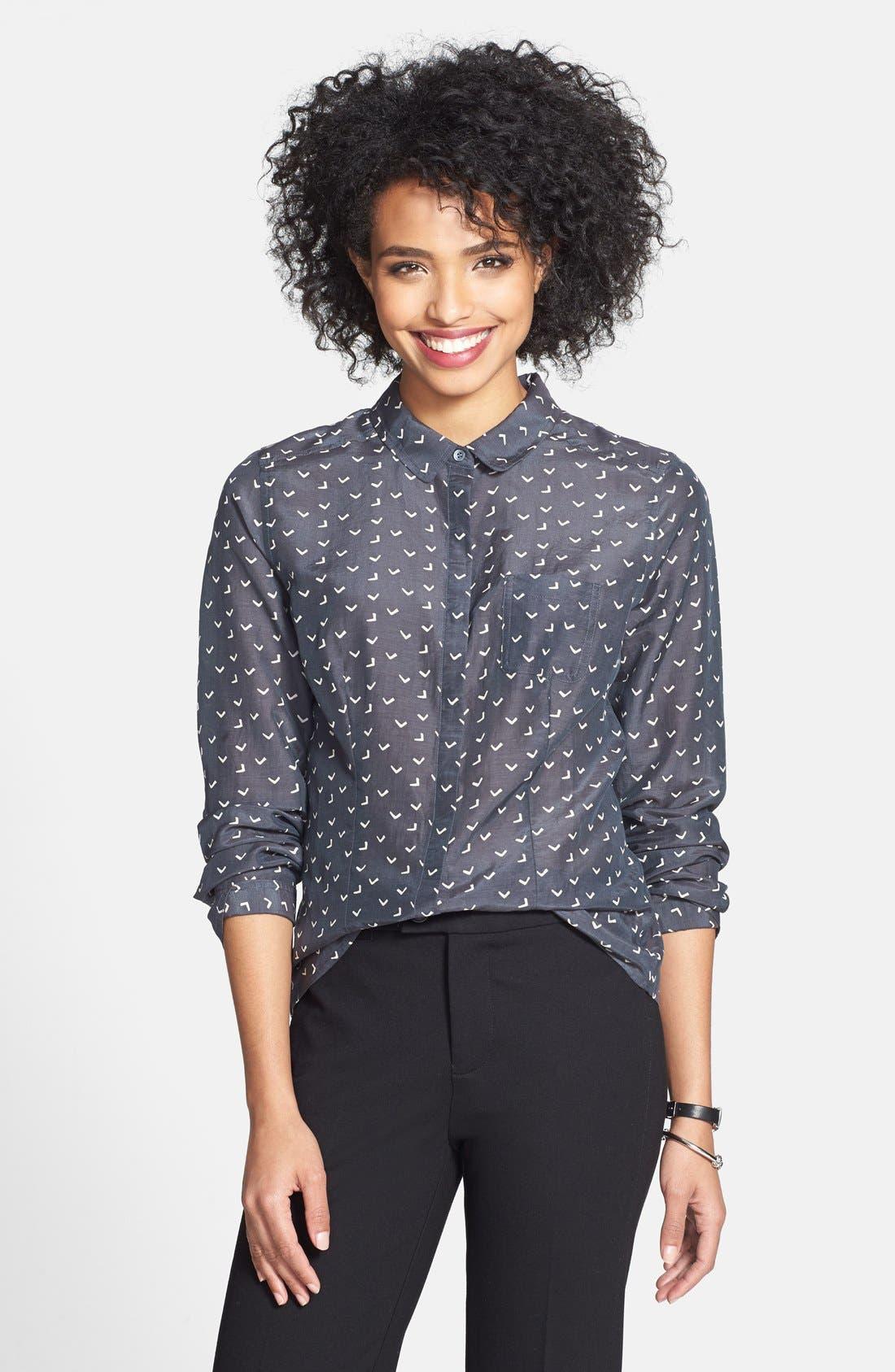 Cotton & Silk Shirt,                             Main thumbnail 6, color,