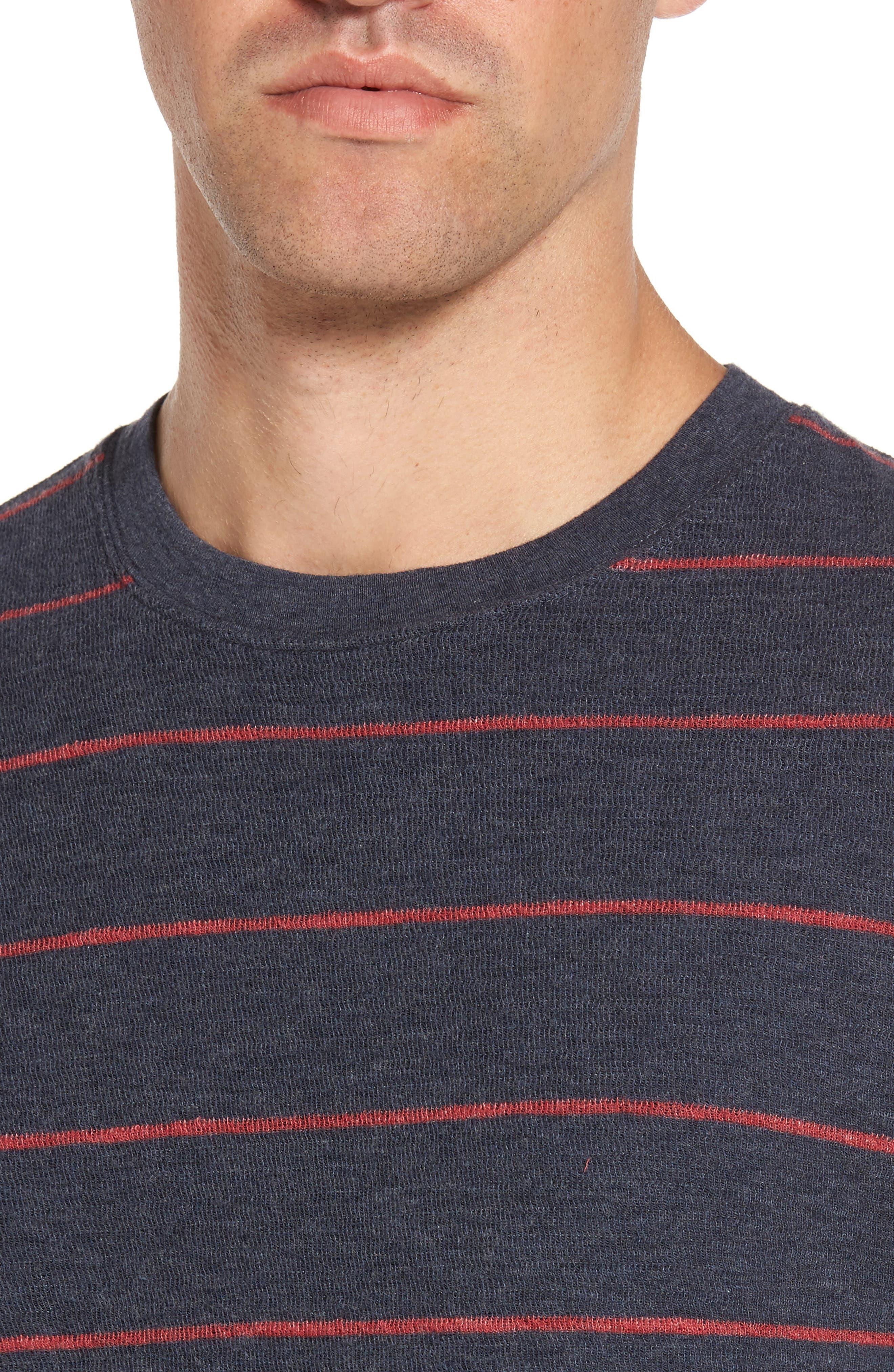 Baird Stripe Crewneck Sweatshirt,                             Alternate thumbnail 4, color,                             412