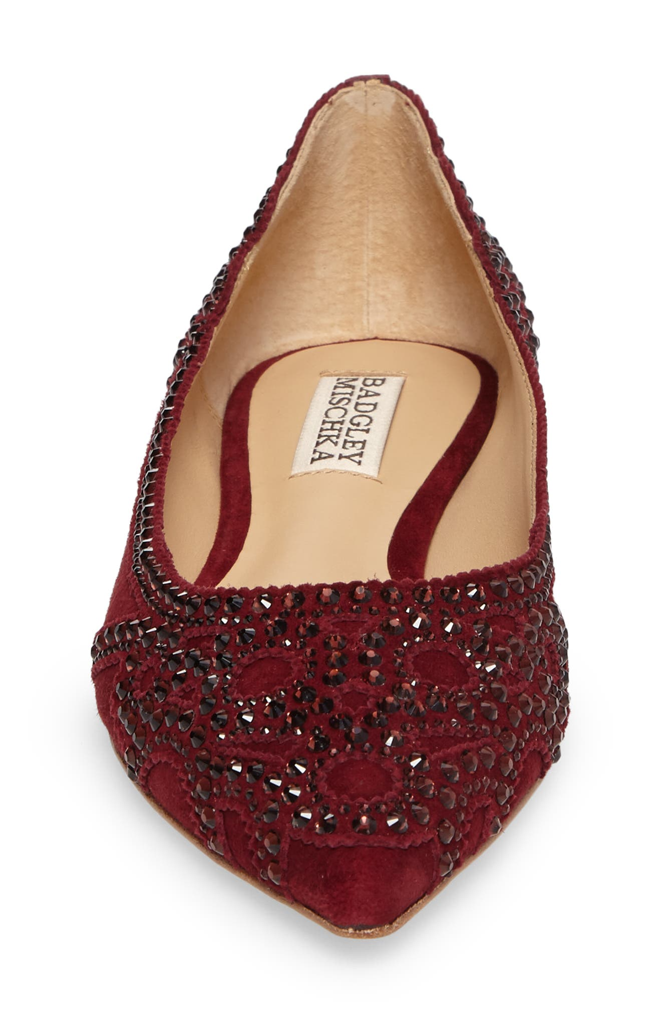 Gigi Crystal Pointy Toe Flat,                             Alternate thumbnail 21, color,