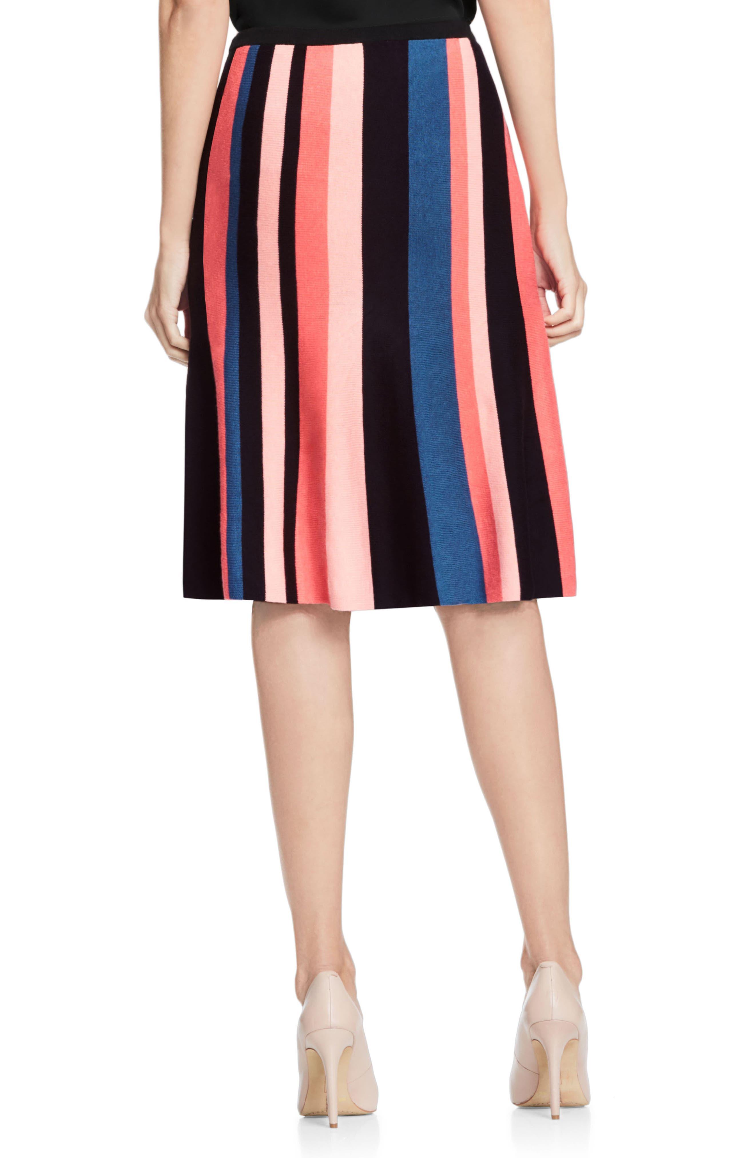 Multistripe Flare Skirt,                             Alternate thumbnail 2, color,                             006