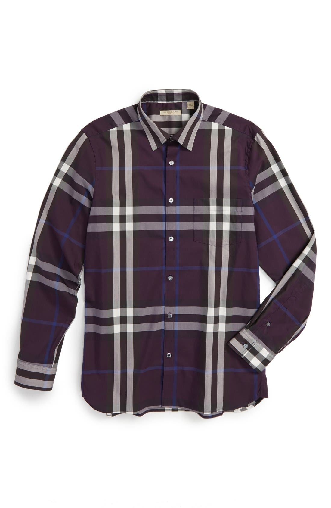 Nelson Check Sport Shirt,                             Alternate thumbnail 129, color,