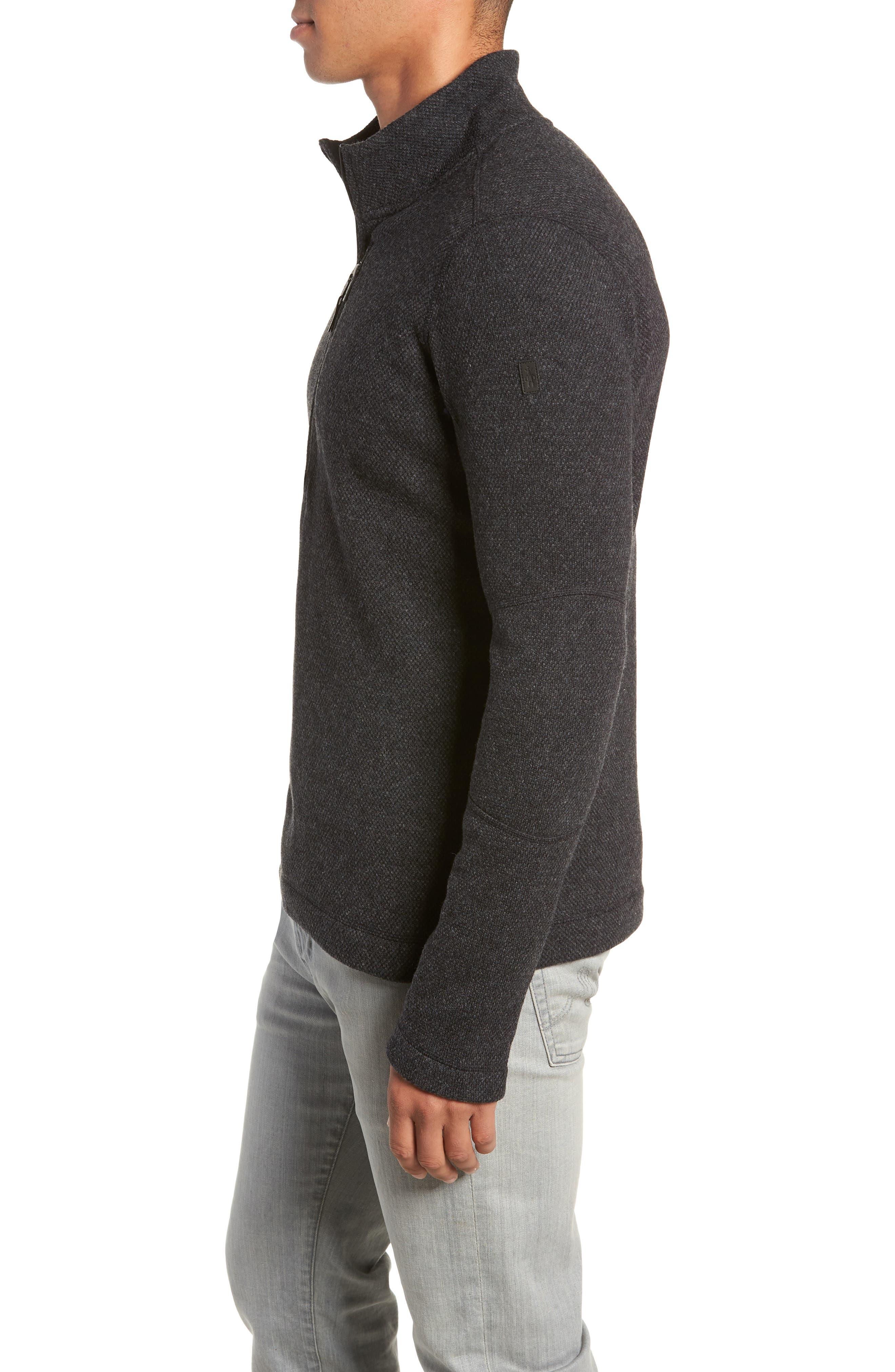 Hudson Trail Regular Fit Fleece Half-Zip Sweater,                             Alternate thumbnail 3, color,                             020