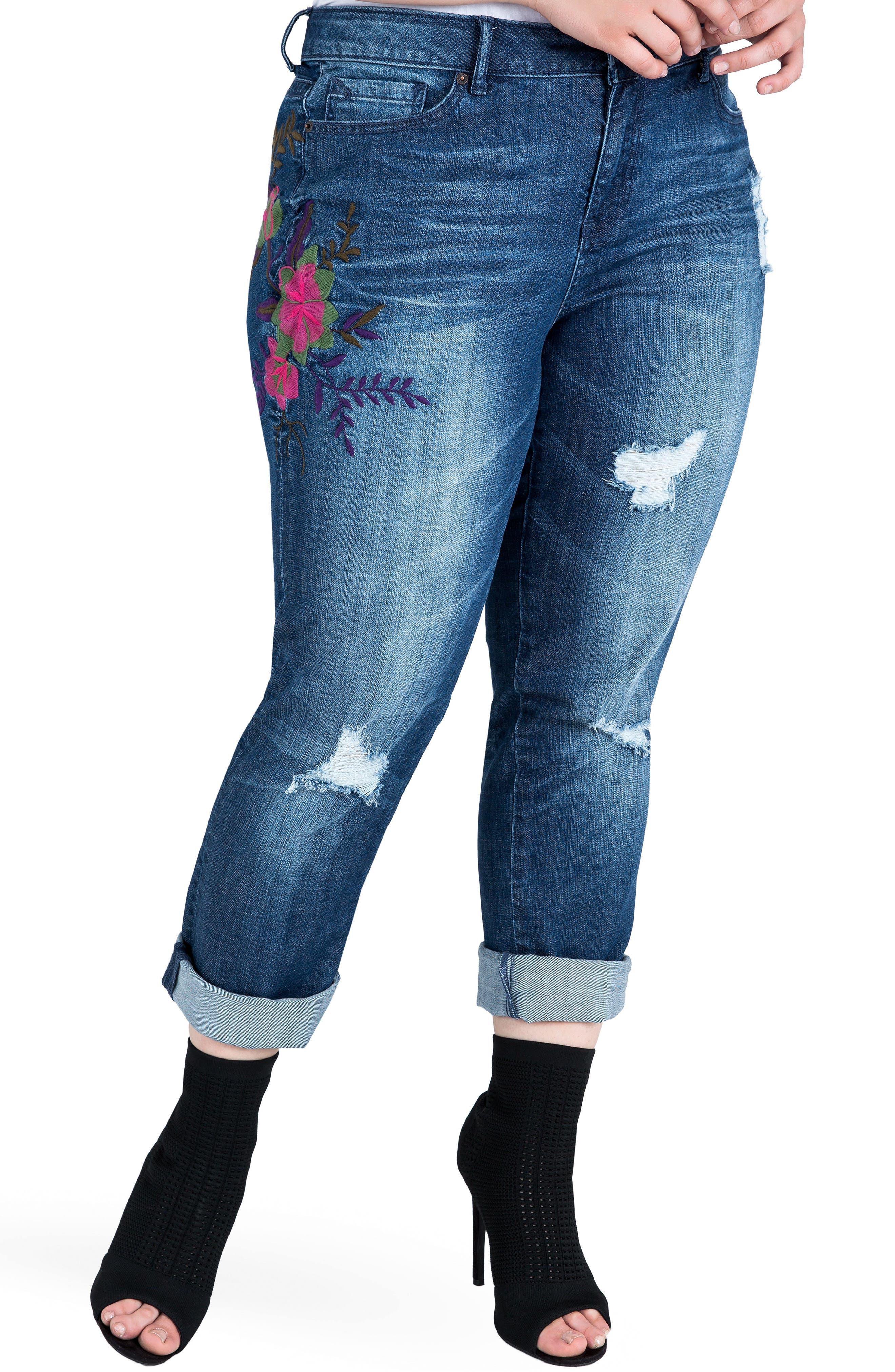X-Boyfriend Jeans,                             Main thumbnail 1, color,                             400