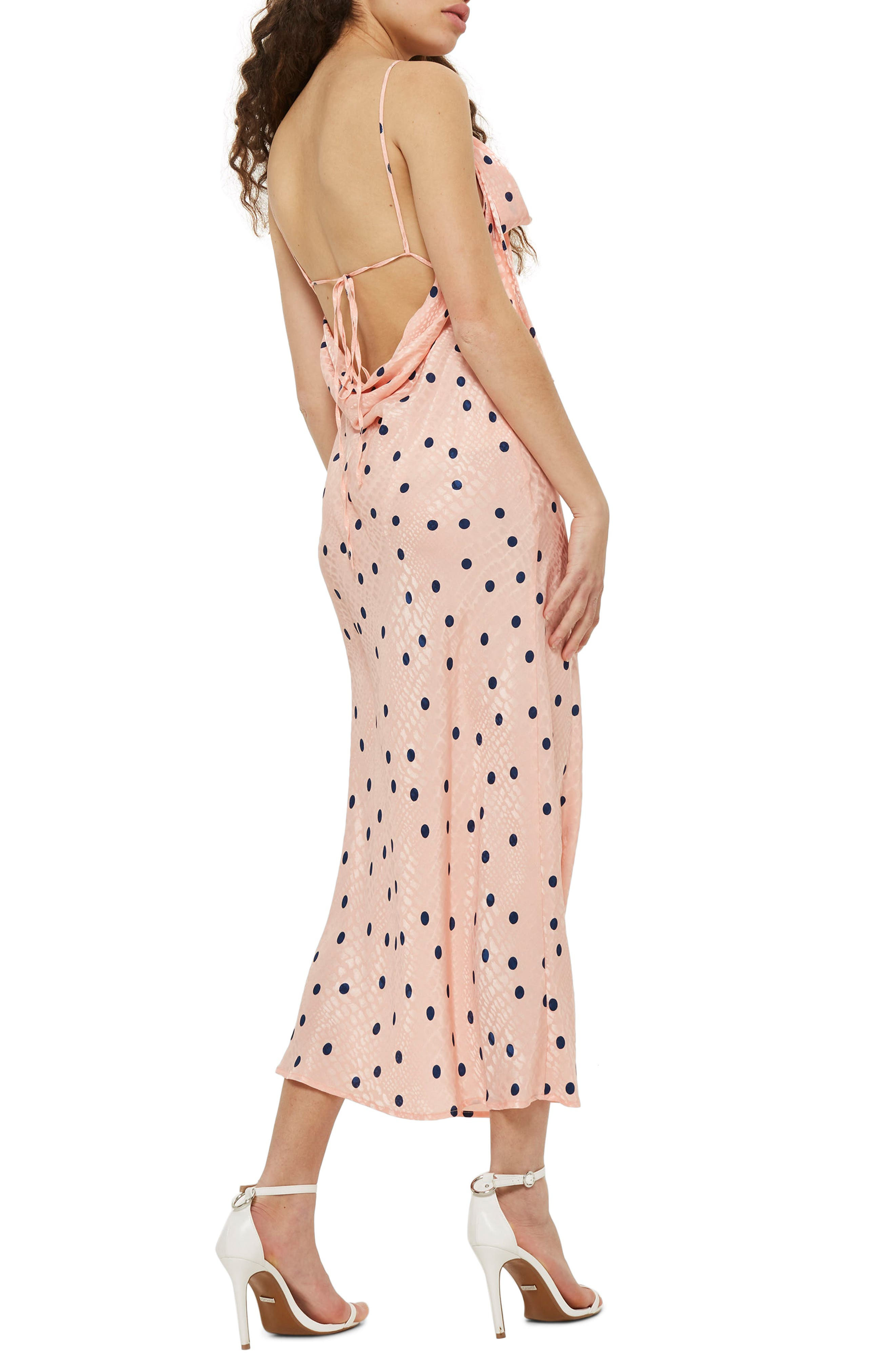 Spot Jacquard Maxi Slipdress,                             Alternate thumbnail 2, color,                             650