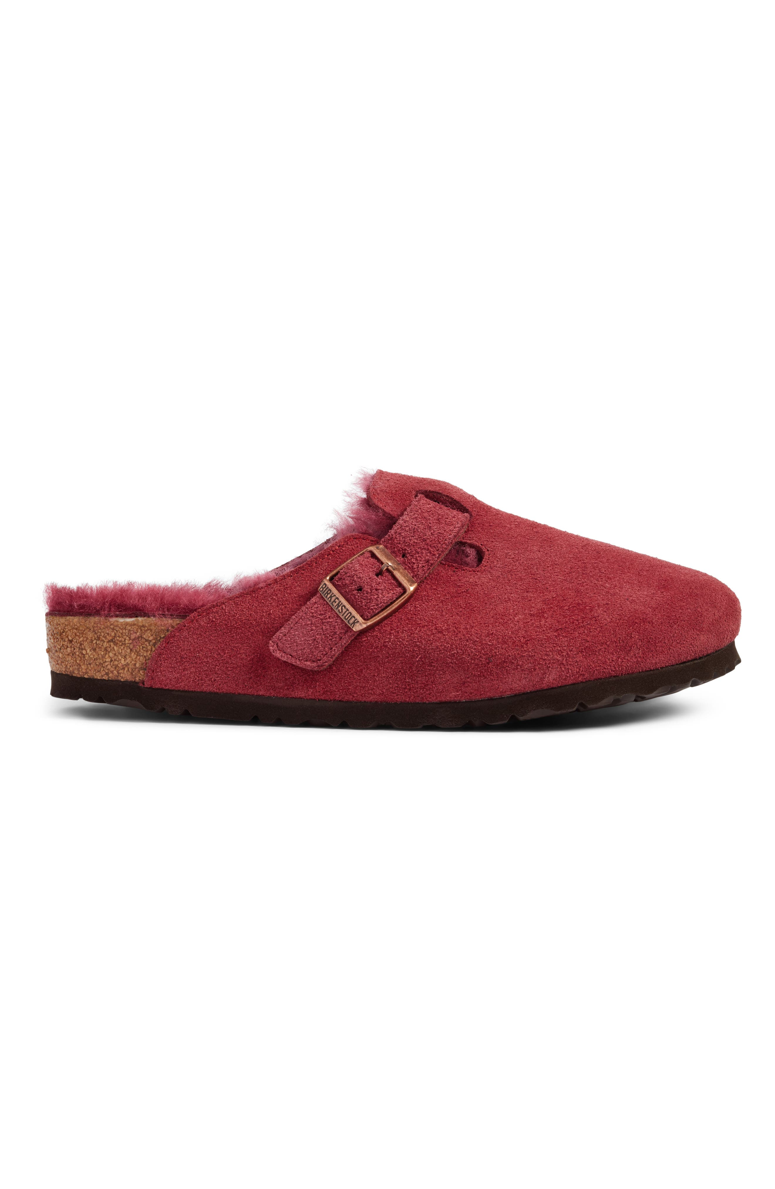 Boston Genuine Shearling Lined Clog,                             Alternate thumbnail 3, color,                             930
