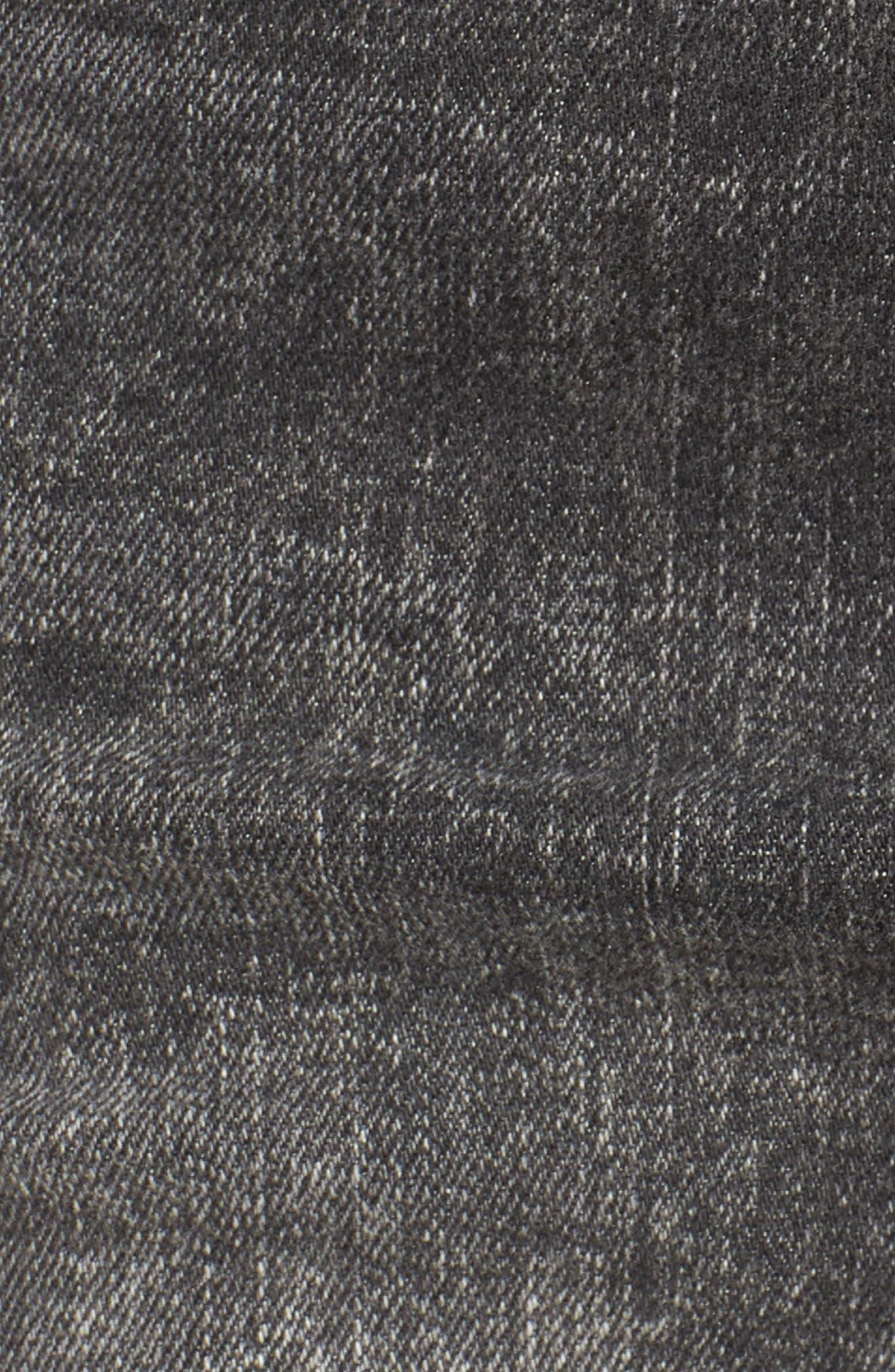 The Viper Cutoff Denim Miniskirt,                             Alternate thumbnail 6, color,                             OLD SCHOOL