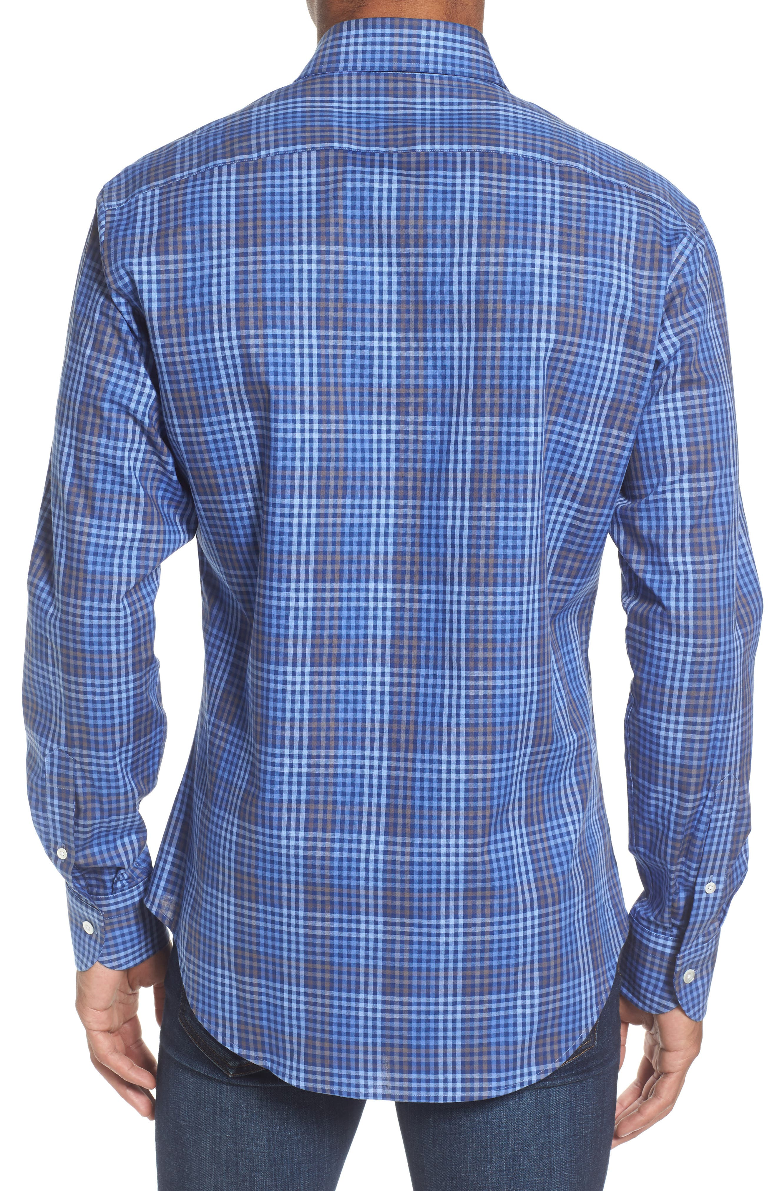 Alden Slim Fit Check Sport Shirt,                             Alternate thumbnail 2, color,                             400