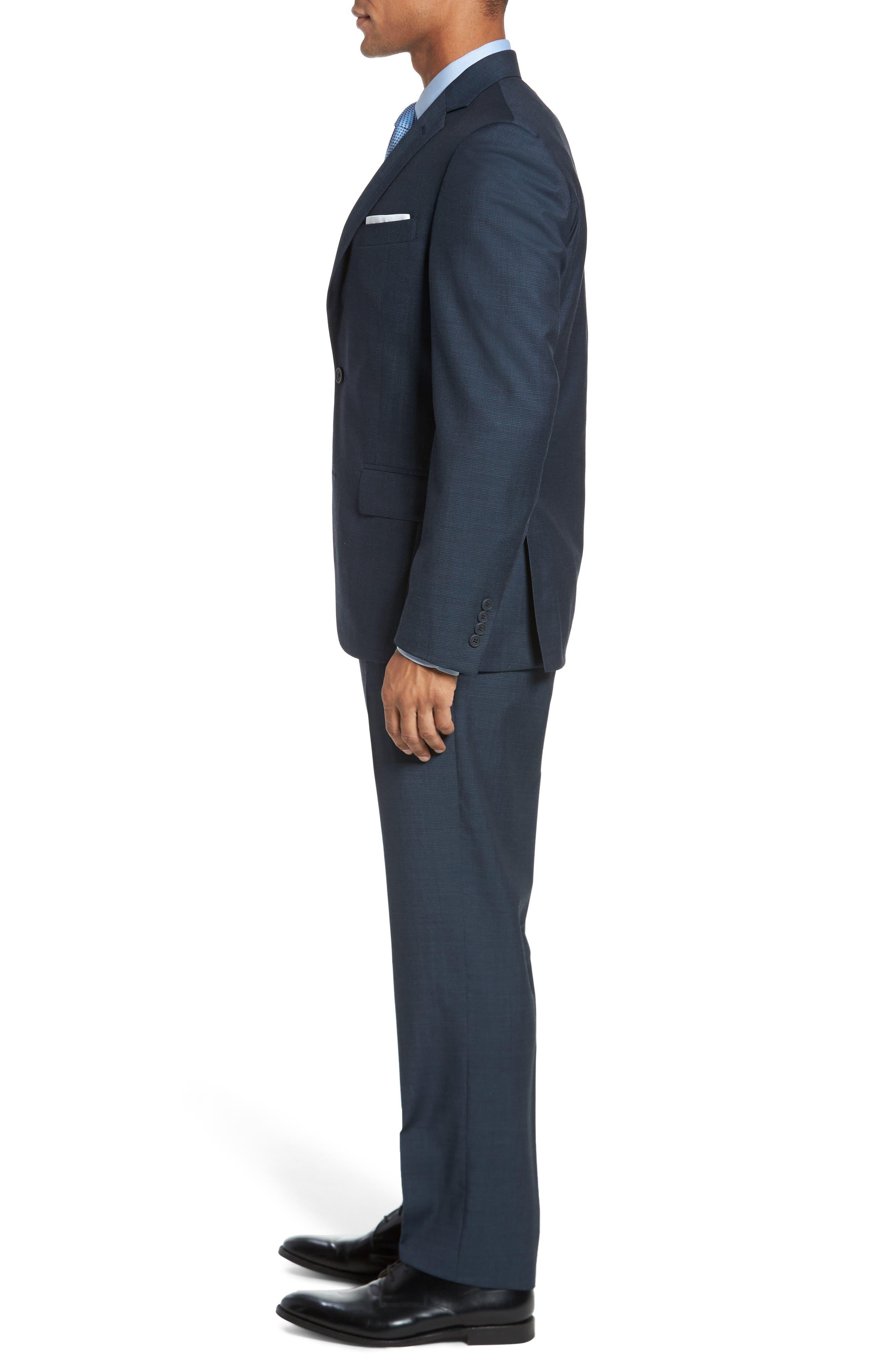 Classic Fit Check Wool Suit,                             Alternate thumbnail 12, color,