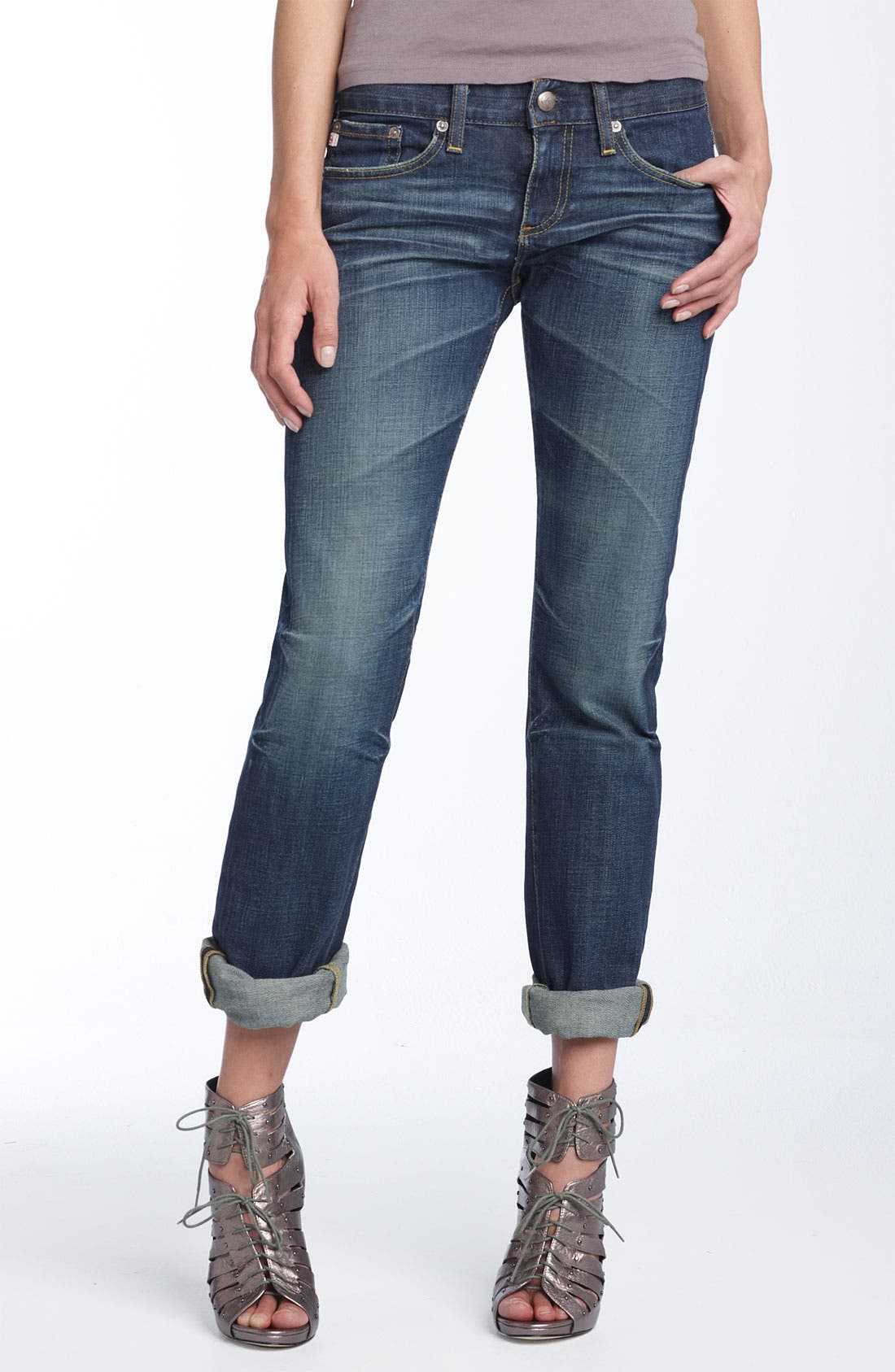 'The Tomboy' Relaxed Straight Leg Jeans,                             Alternate thumbnail 4, color,
