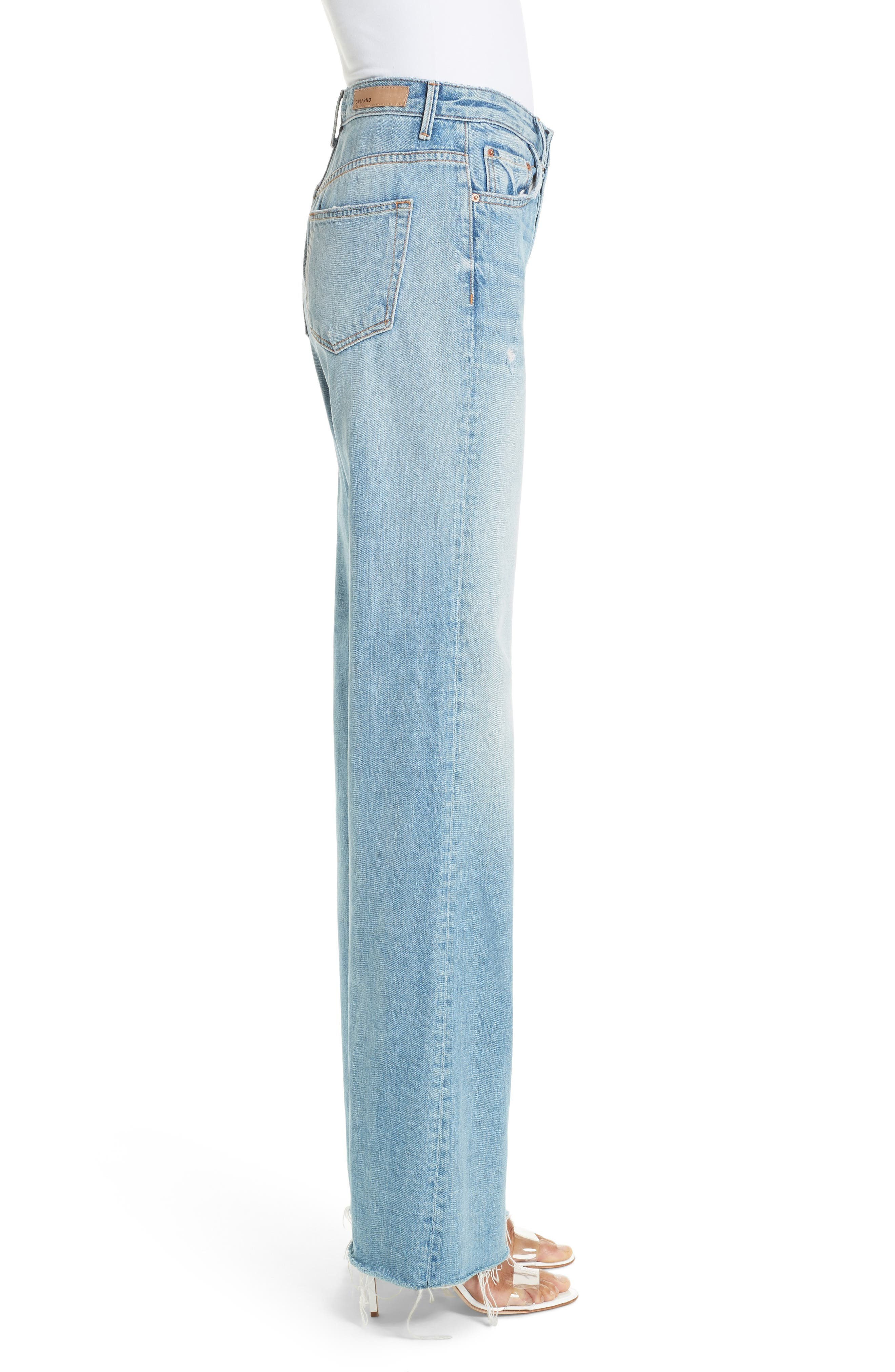 Carla Wide Leg Jeans,                             Alternate thumbnail 3, color,                             GONNA FLY NOW