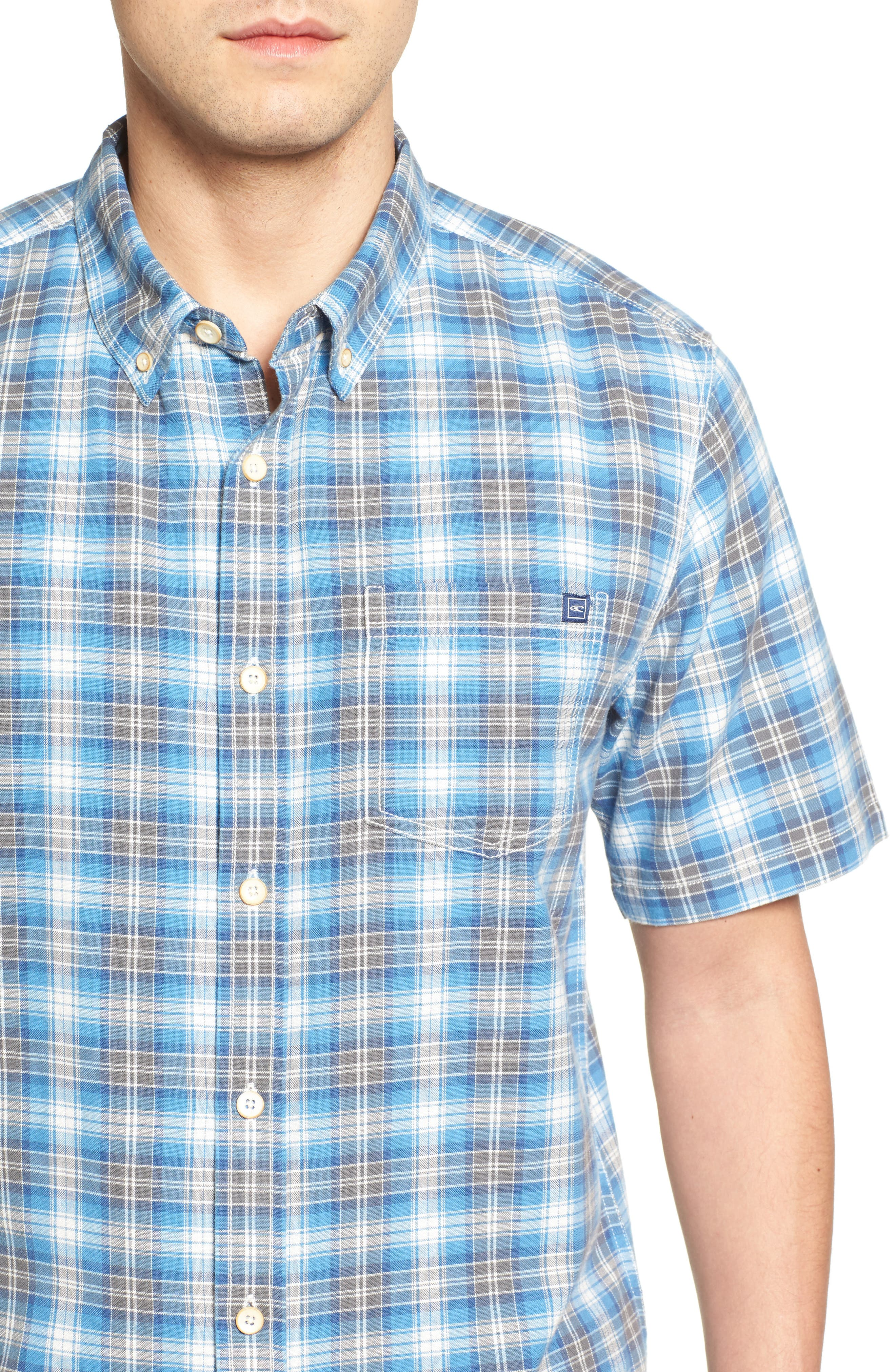 Voyager Plaid Sport Shirt,                             Alternate thumbnail 8, color,