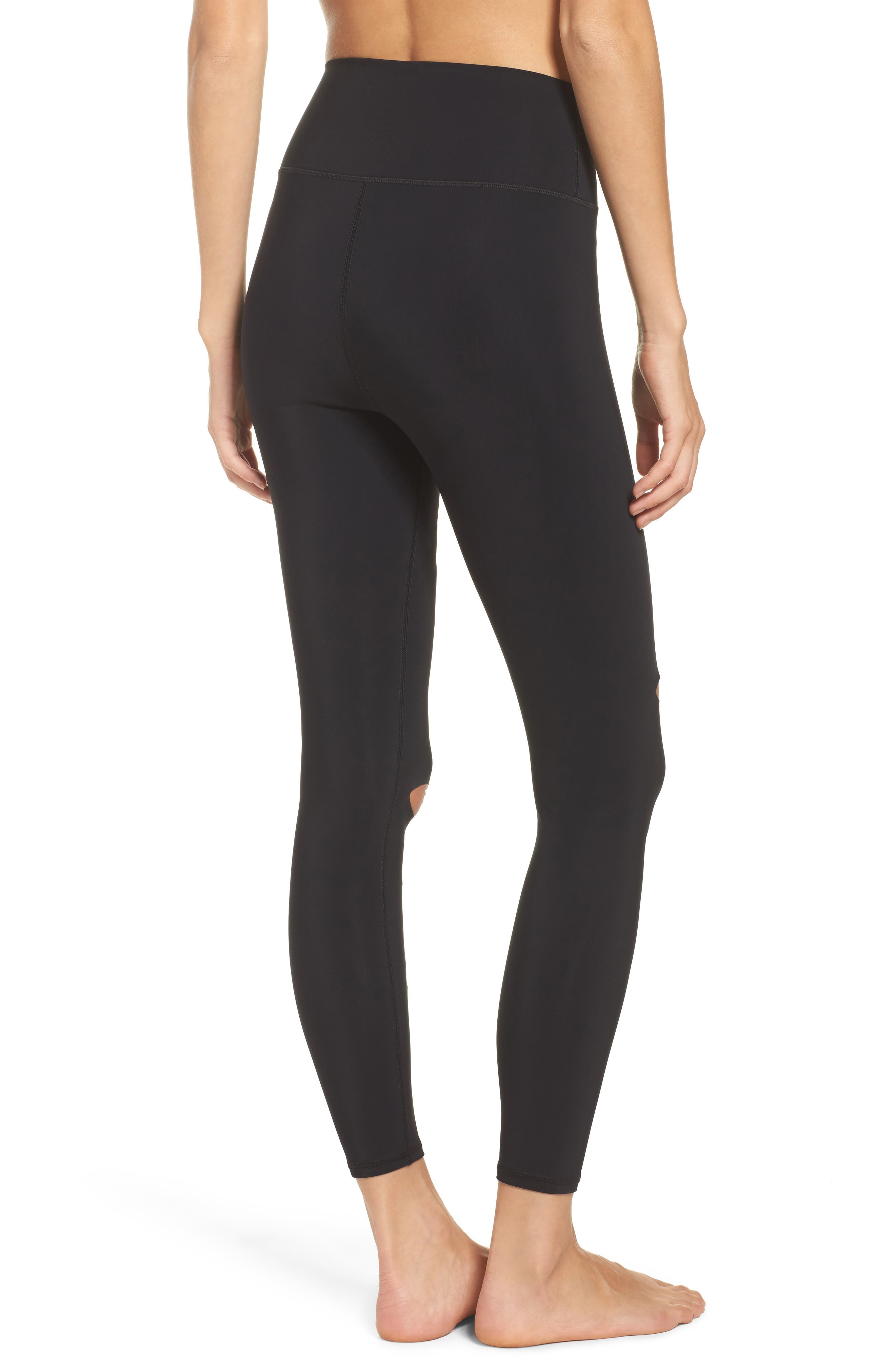 Ripped Warrior Midi Leggings,                             Alternate thumbnail 2, color,                             001