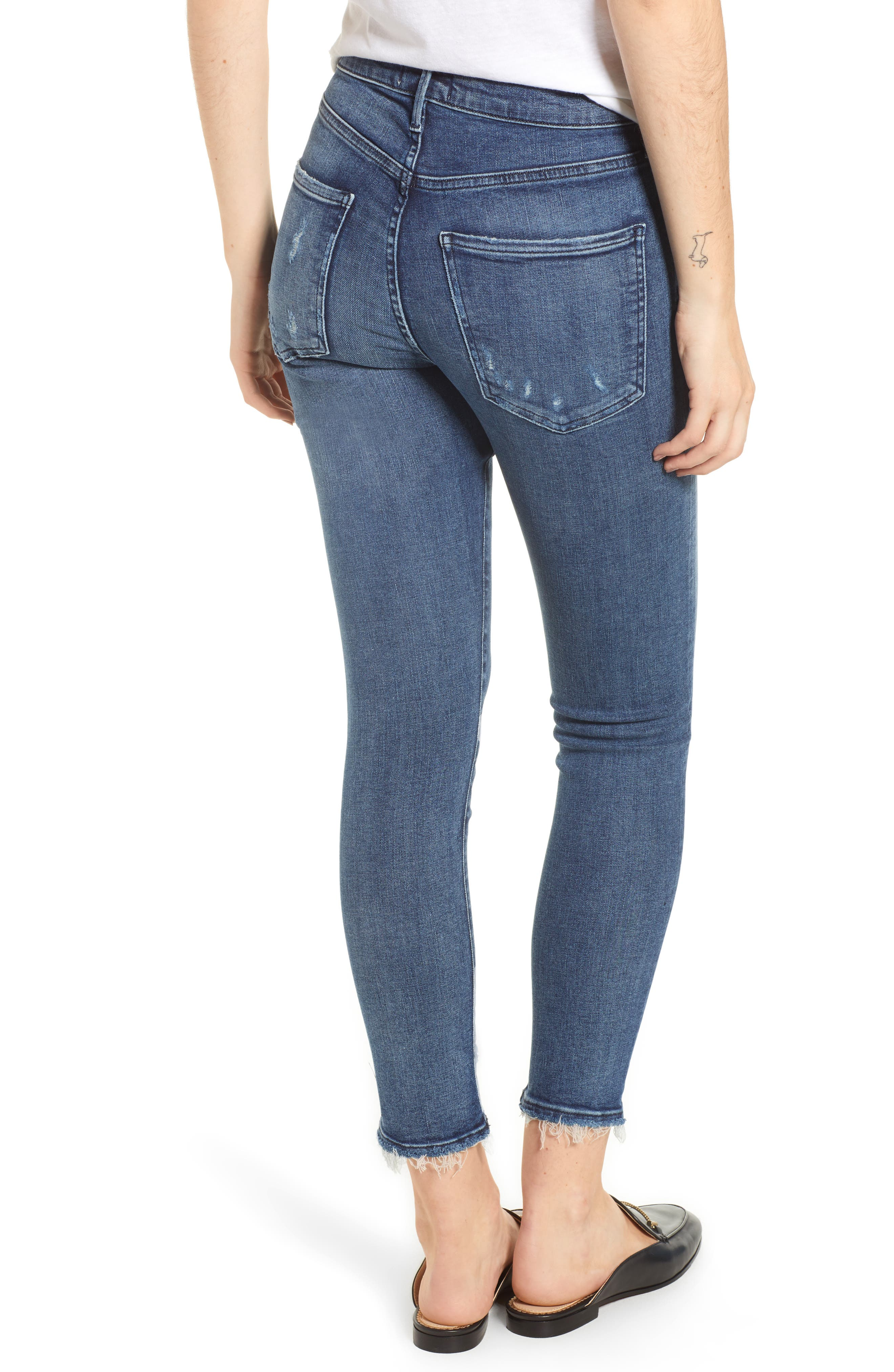 Sophie Distressed High Waist Crop Skinny Jeans,                             Alternate thumbnail 2, color,                             425