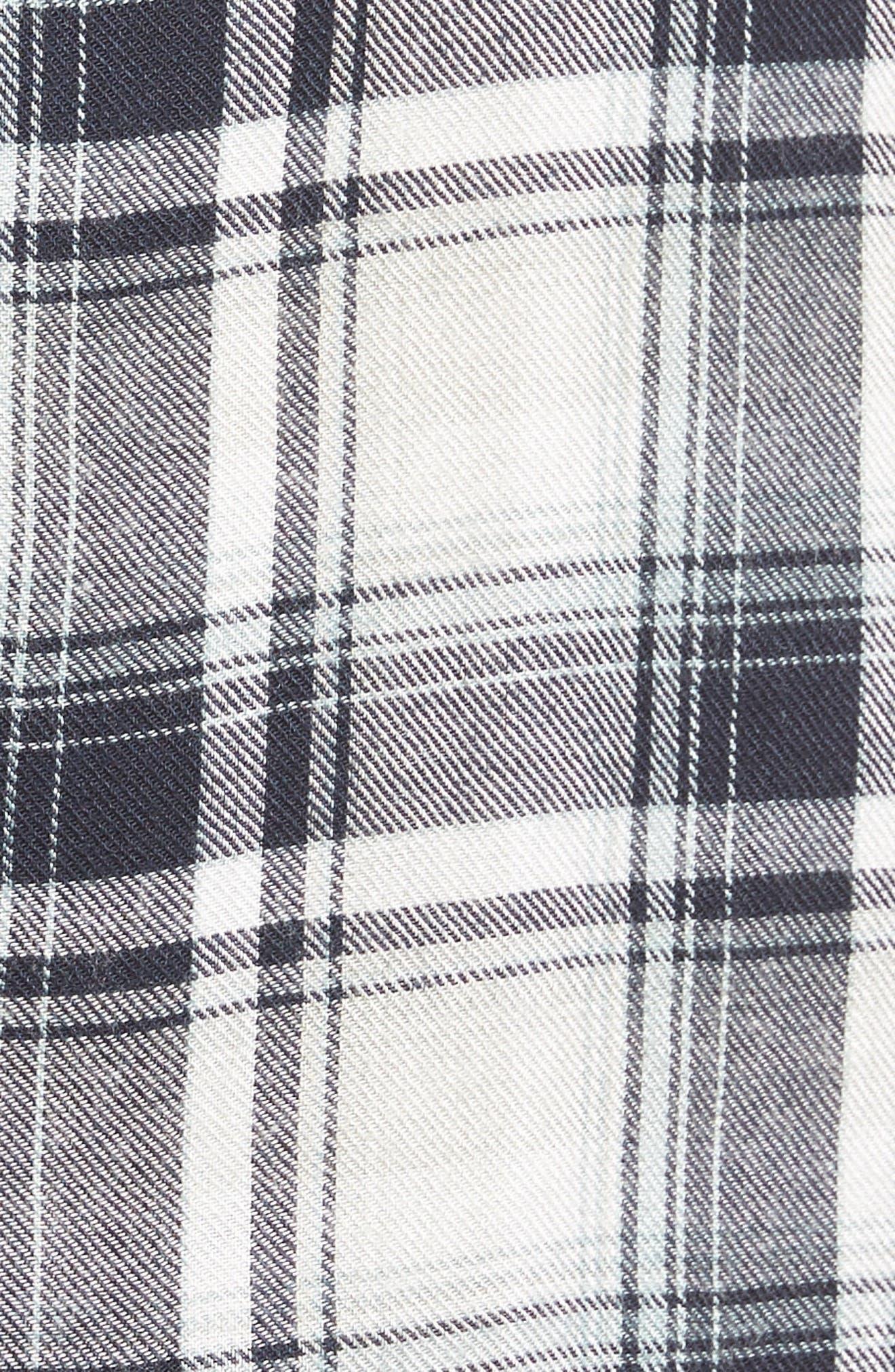 Clea Plaid Shirt,                             Alternate thumbnail 5, color,                             406