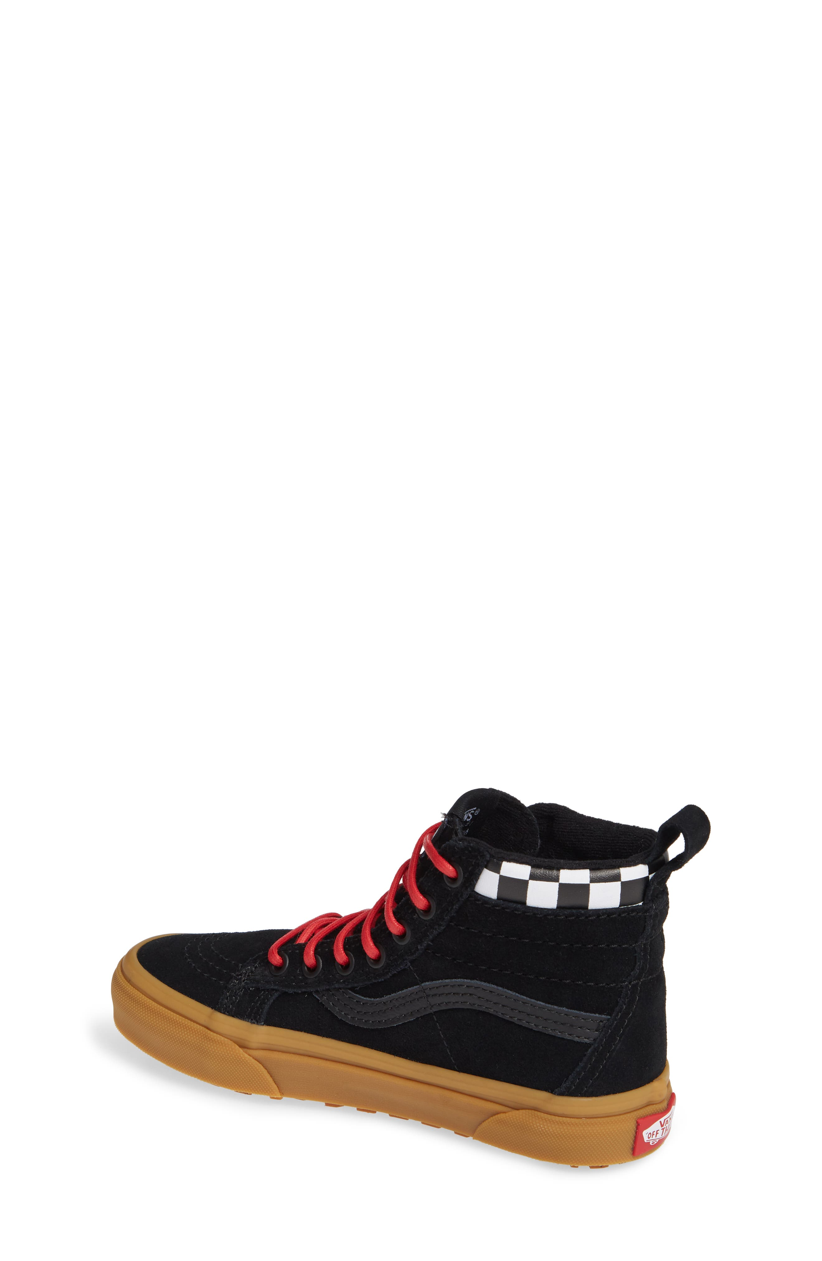 SK8-Hi Sneaker,                             Alternate thumbnail 2, color,                             CHECKERBOARD/ BLACK