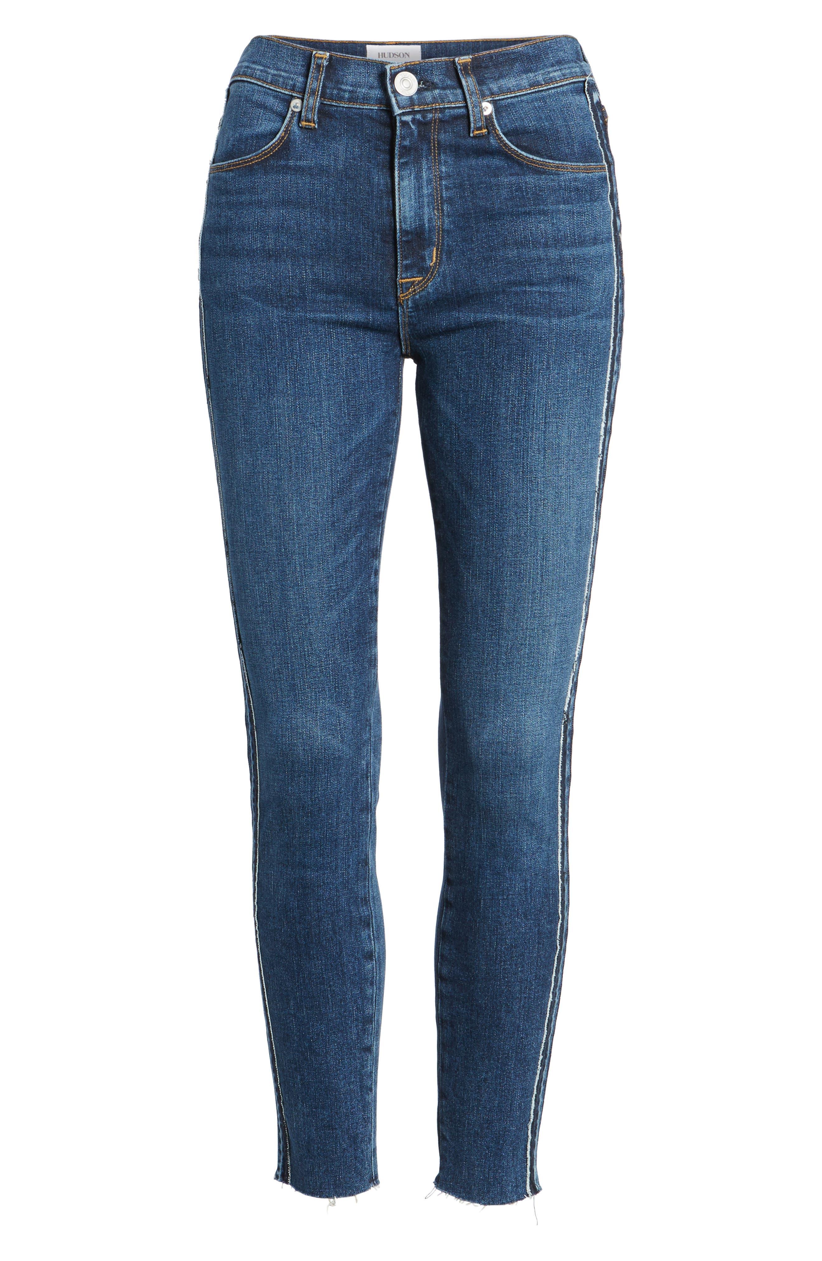 Barbara High Waist Super Skinny Jeans,                             Alternate thumbnail 7, color,                             400