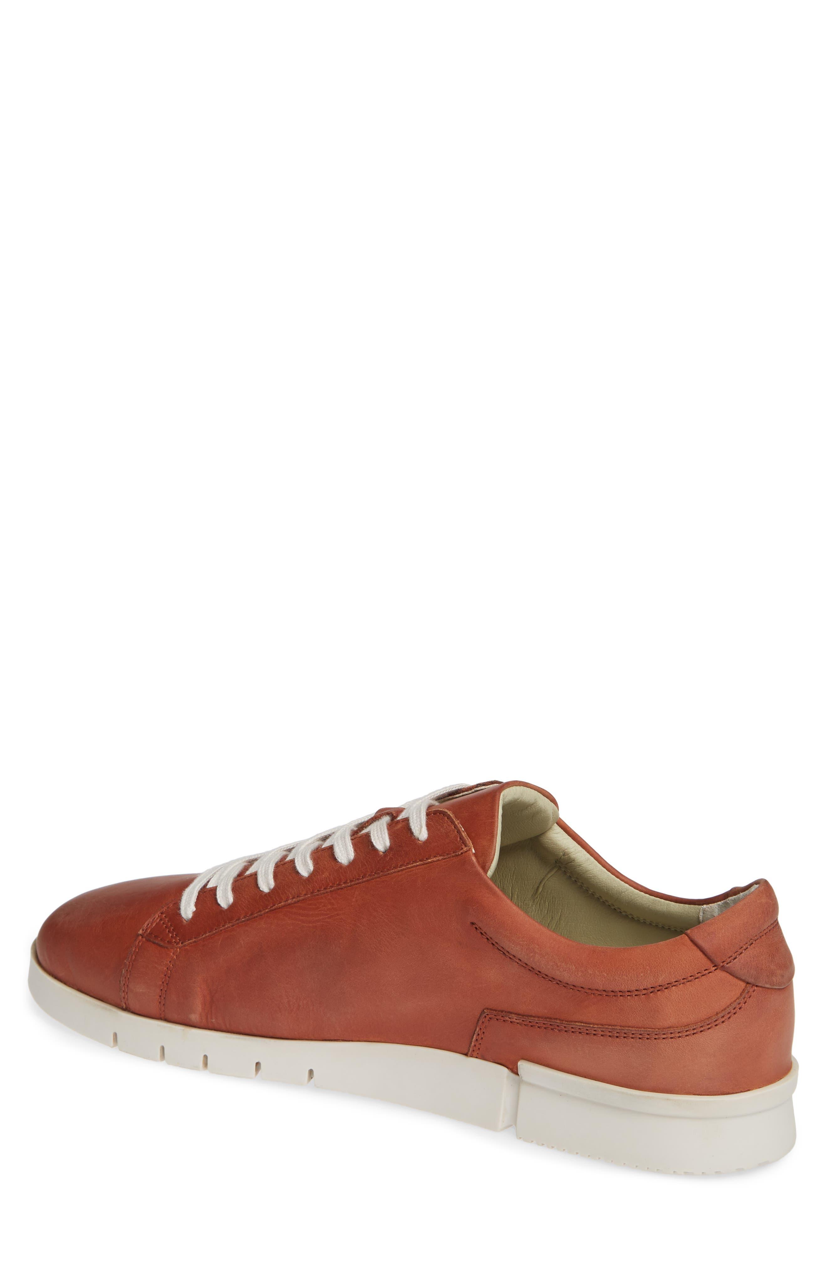 Cer Low-Top Sneaker,                             Alternate thumbnail 2, color,                             COGNAC CORGI LEATHER