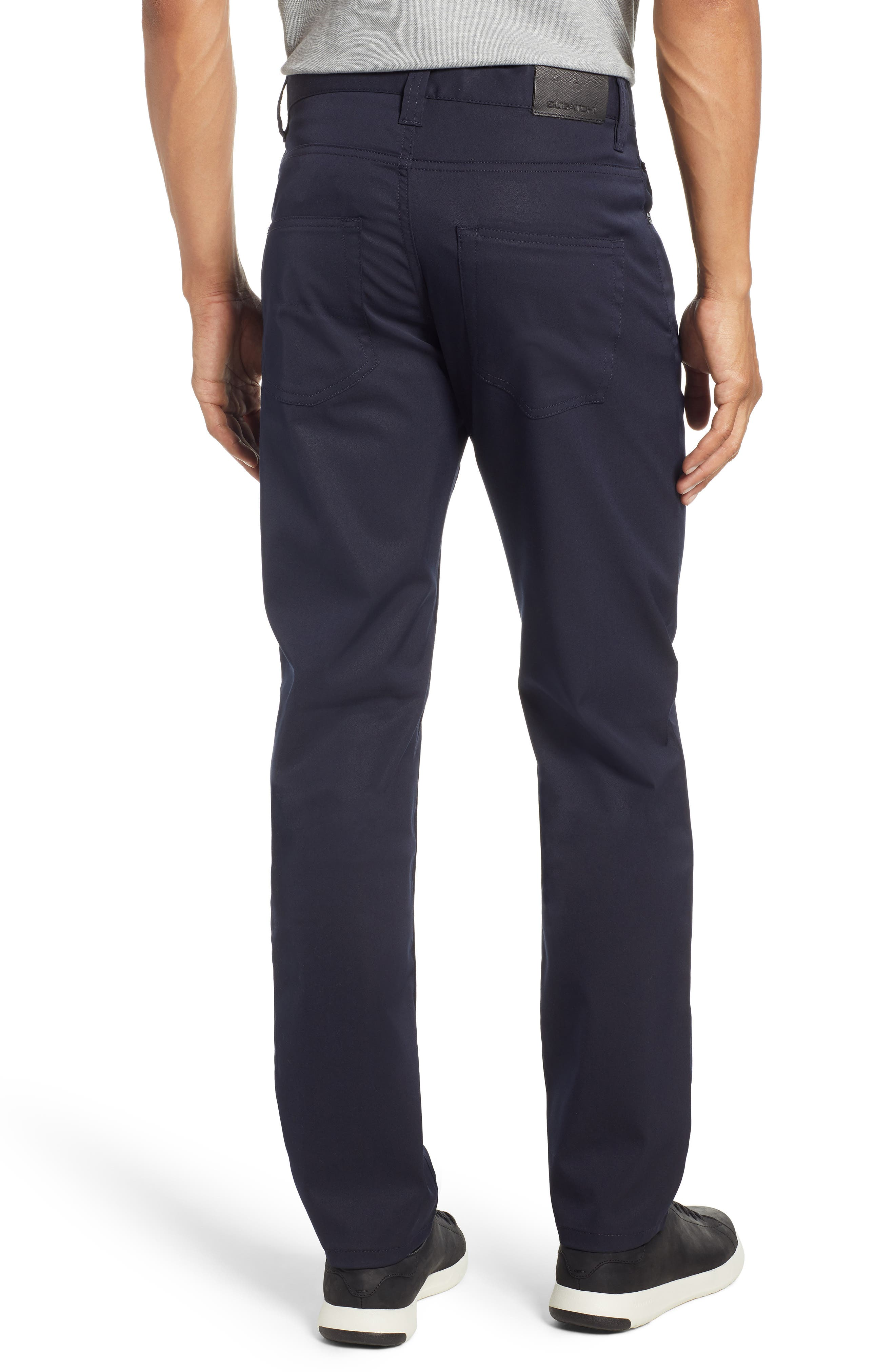 Flat Front Pants,                             Alternate thumbnail 2, color,                             MIDNIGHT