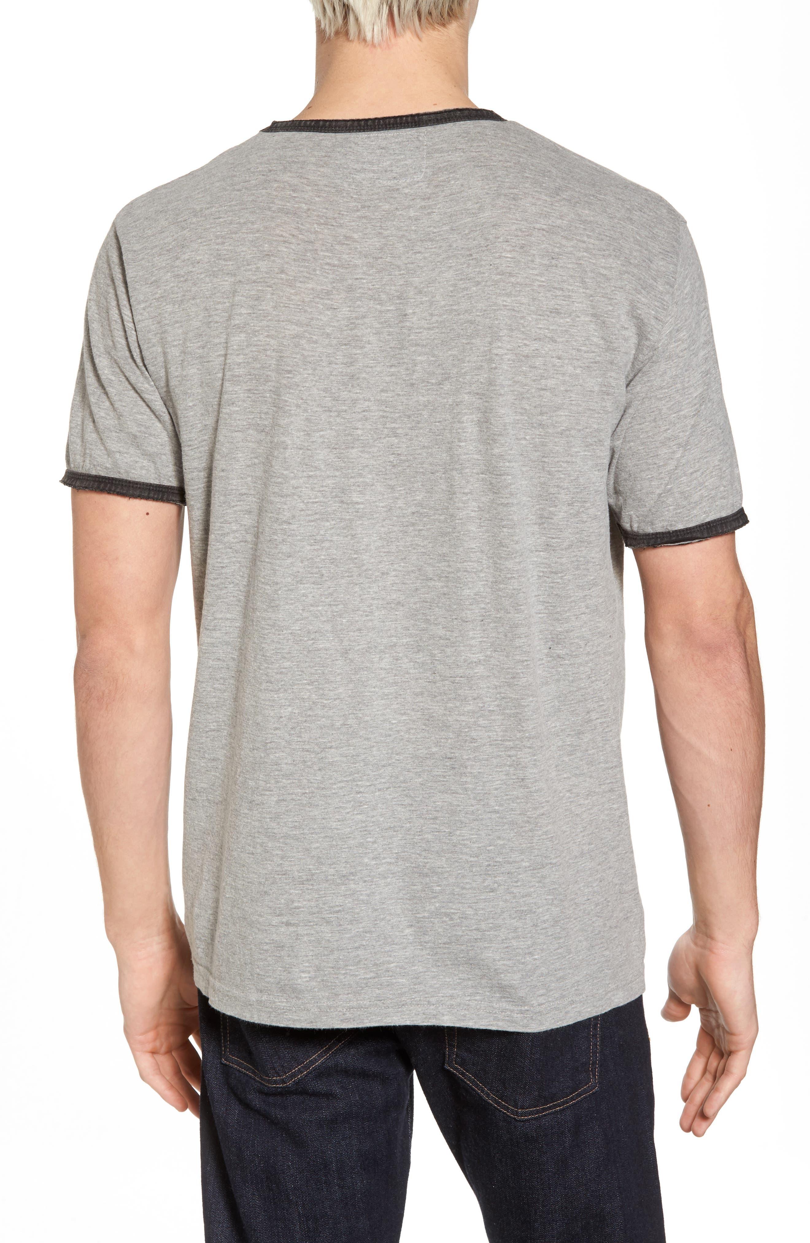 Portage Pittsburgh Penguins Ringer T-Shirt,                             Alternate thumbnail 2, color,