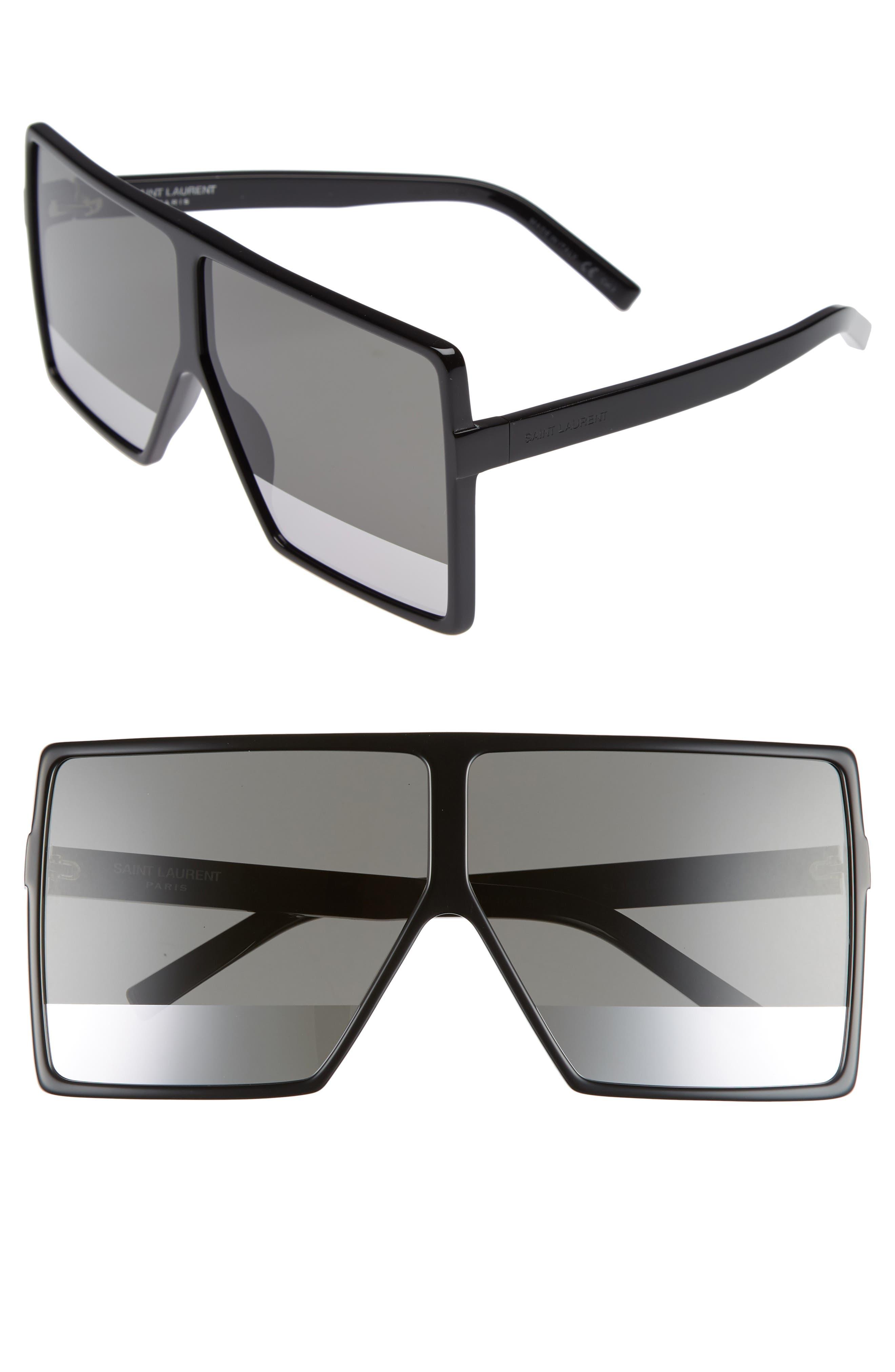 Betty 68mm Shield Sunglasses,                             Main thumbnail 1, color,                             005