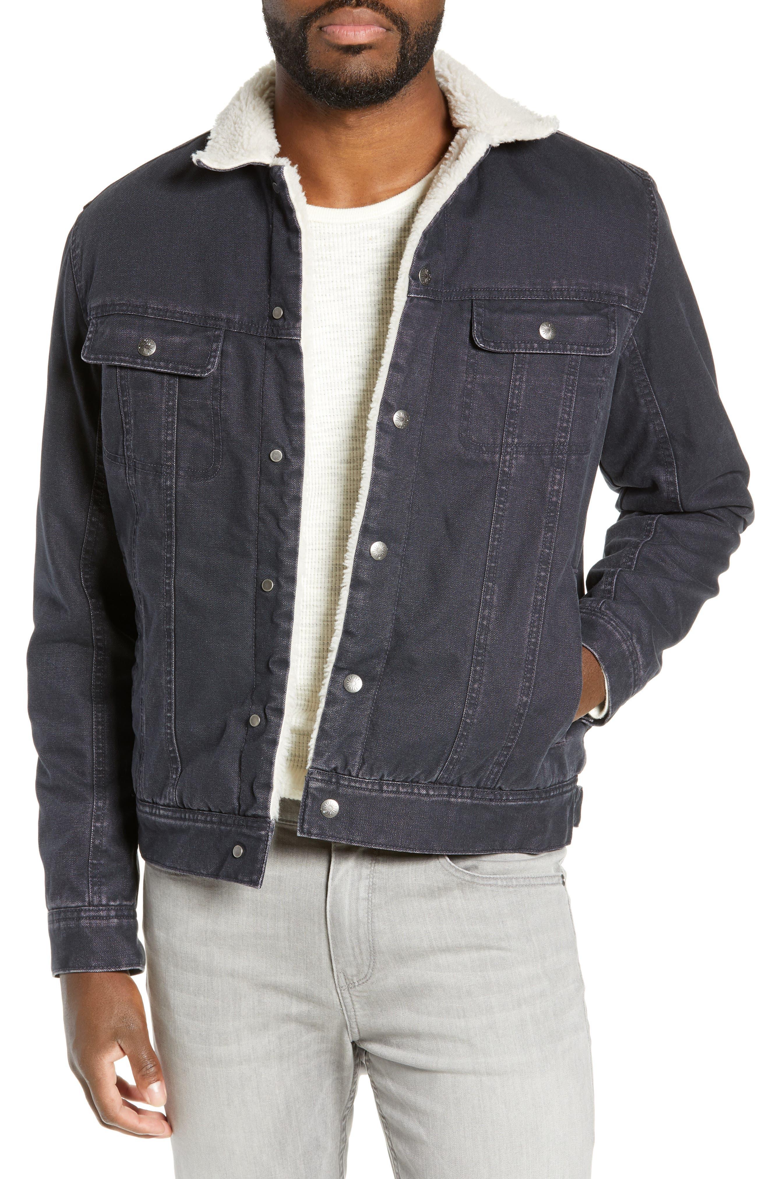 Faherty Stormrider Fleece Lined Denim Jacket, Blue
