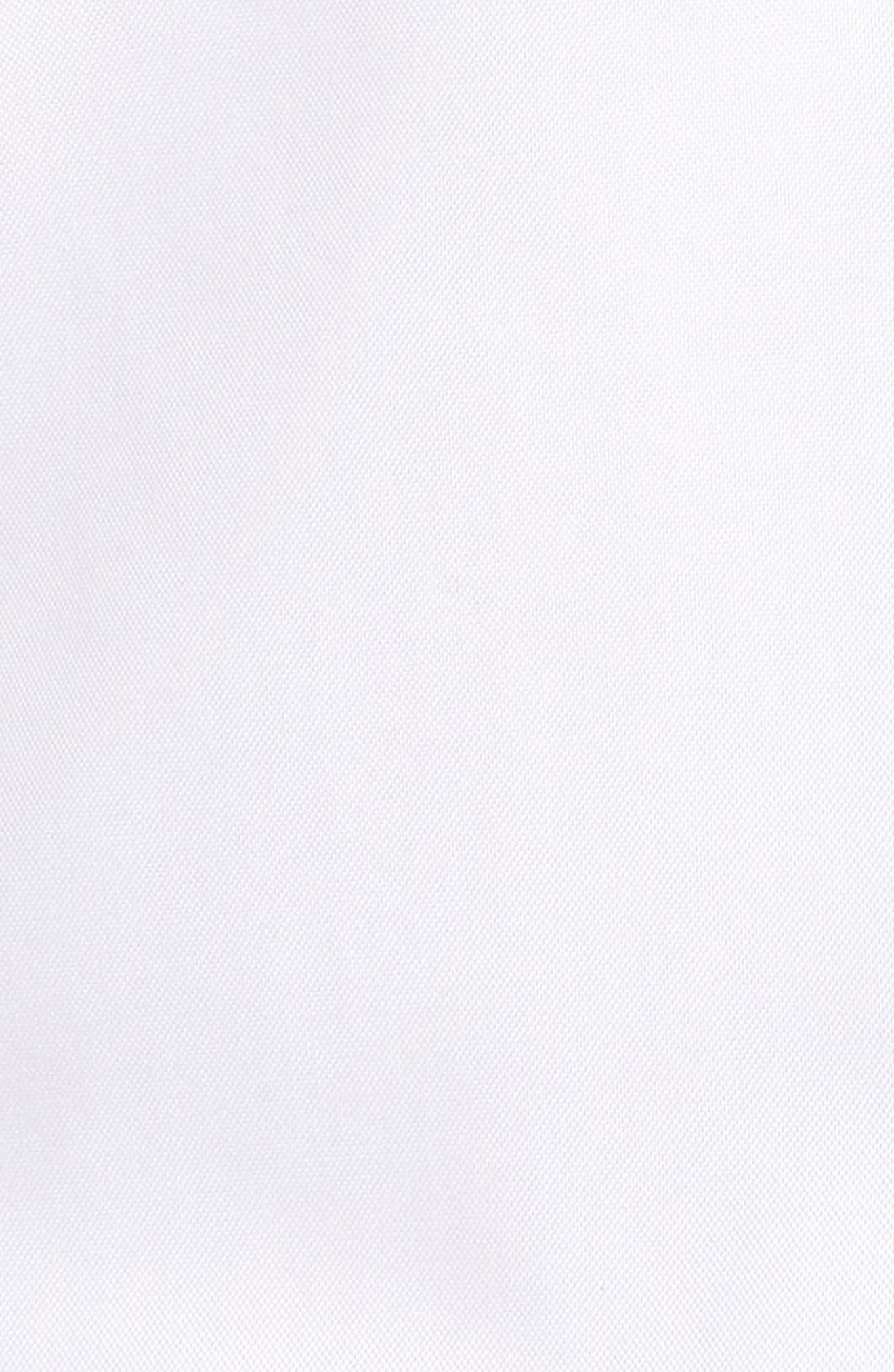 Crown Soft Pinpoint Regular Fit Sport Shirt,                             Alternate thumbnail 5, color,                             WHITE
