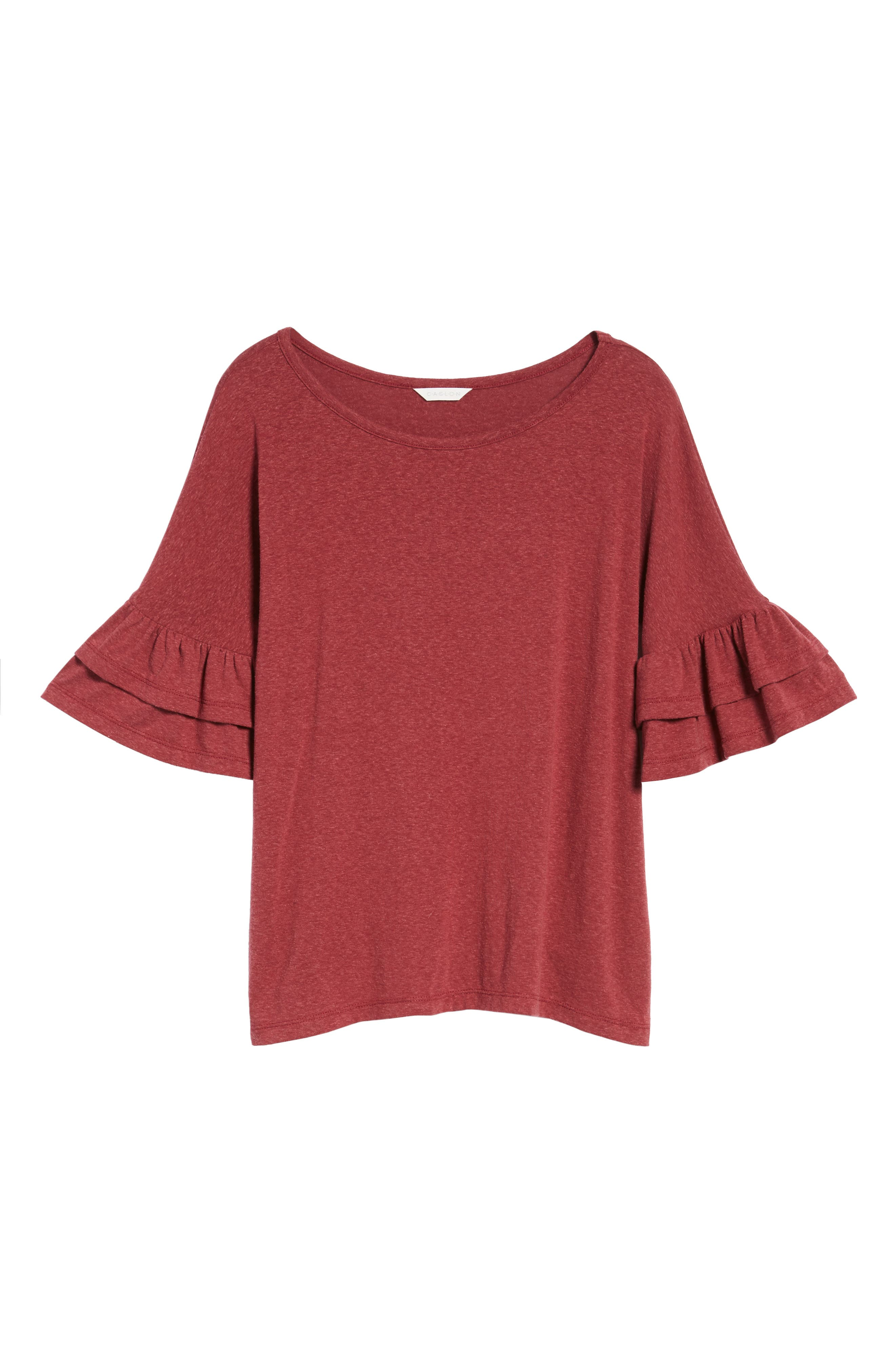 Tiered Bell Sleeve Tee,                             Alternate thumbnail 6, color,                             600