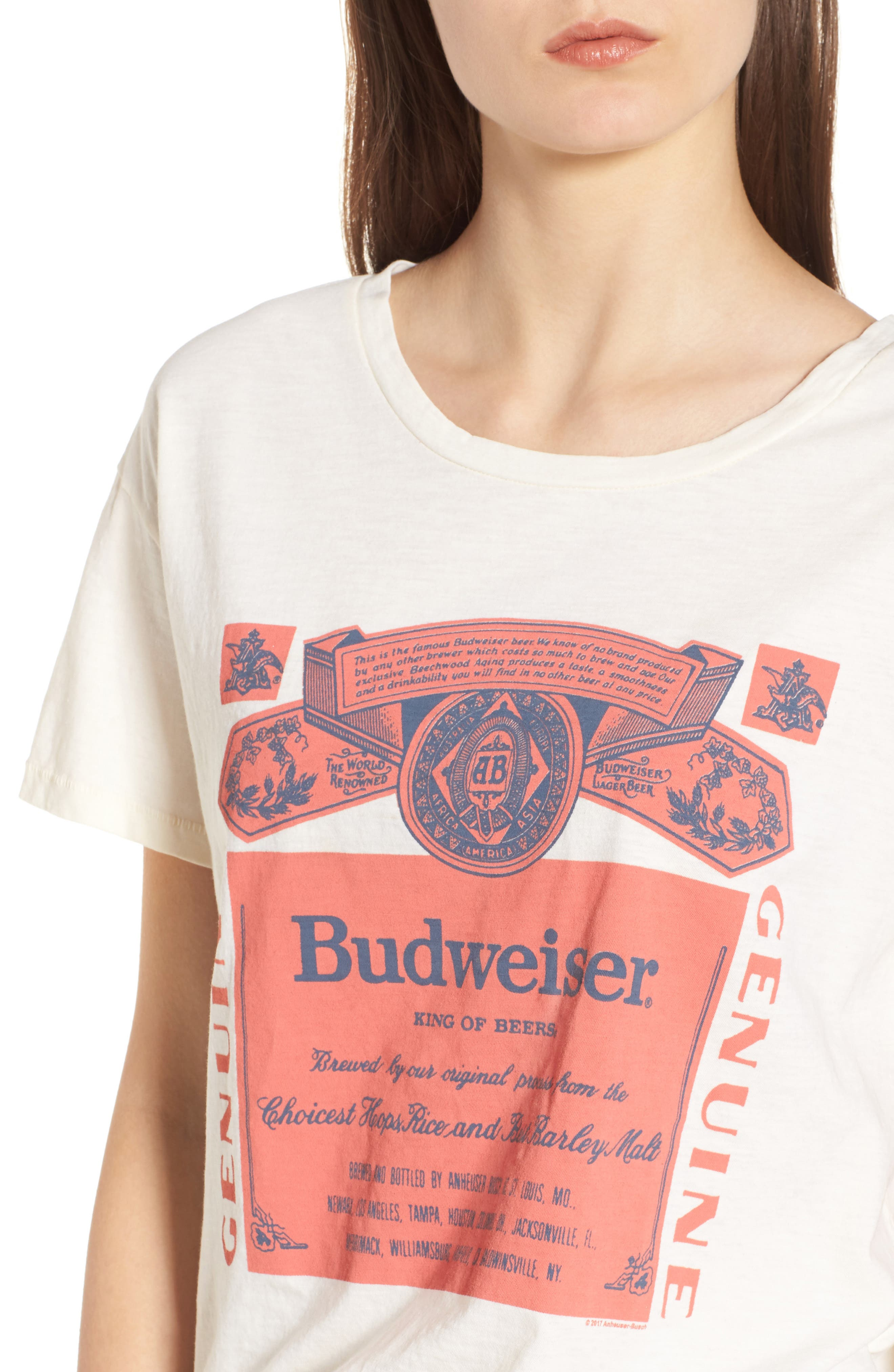 Budweiser Tee,                             Alternate thumbnail 4, color,                             IVORY