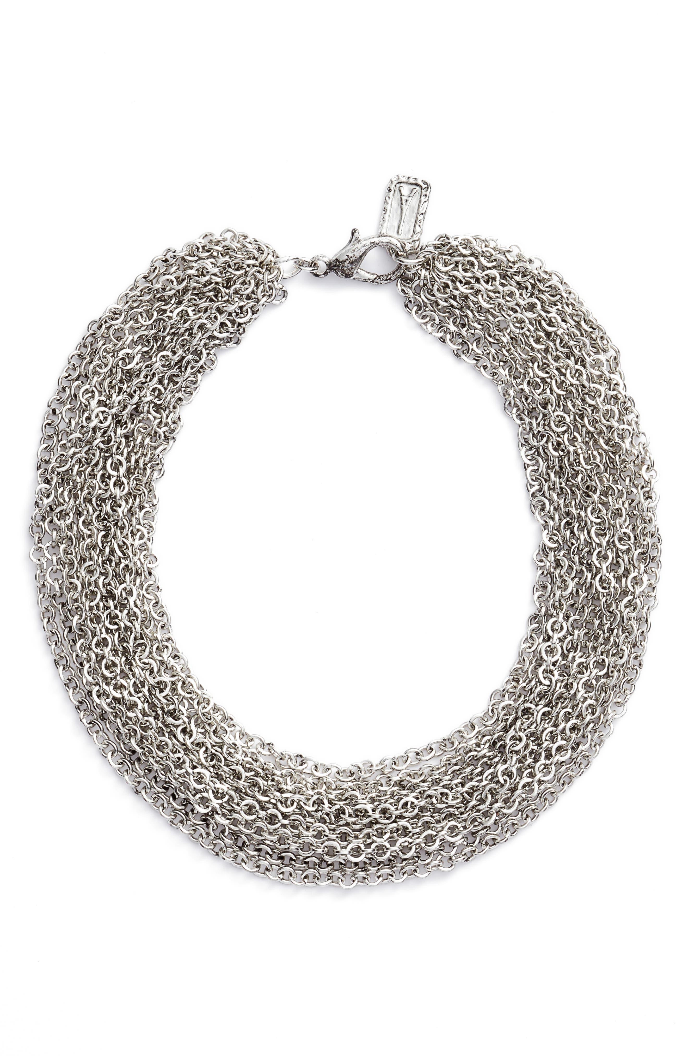 Adeline Collar Necklace,                         Main,                         color, SILVER