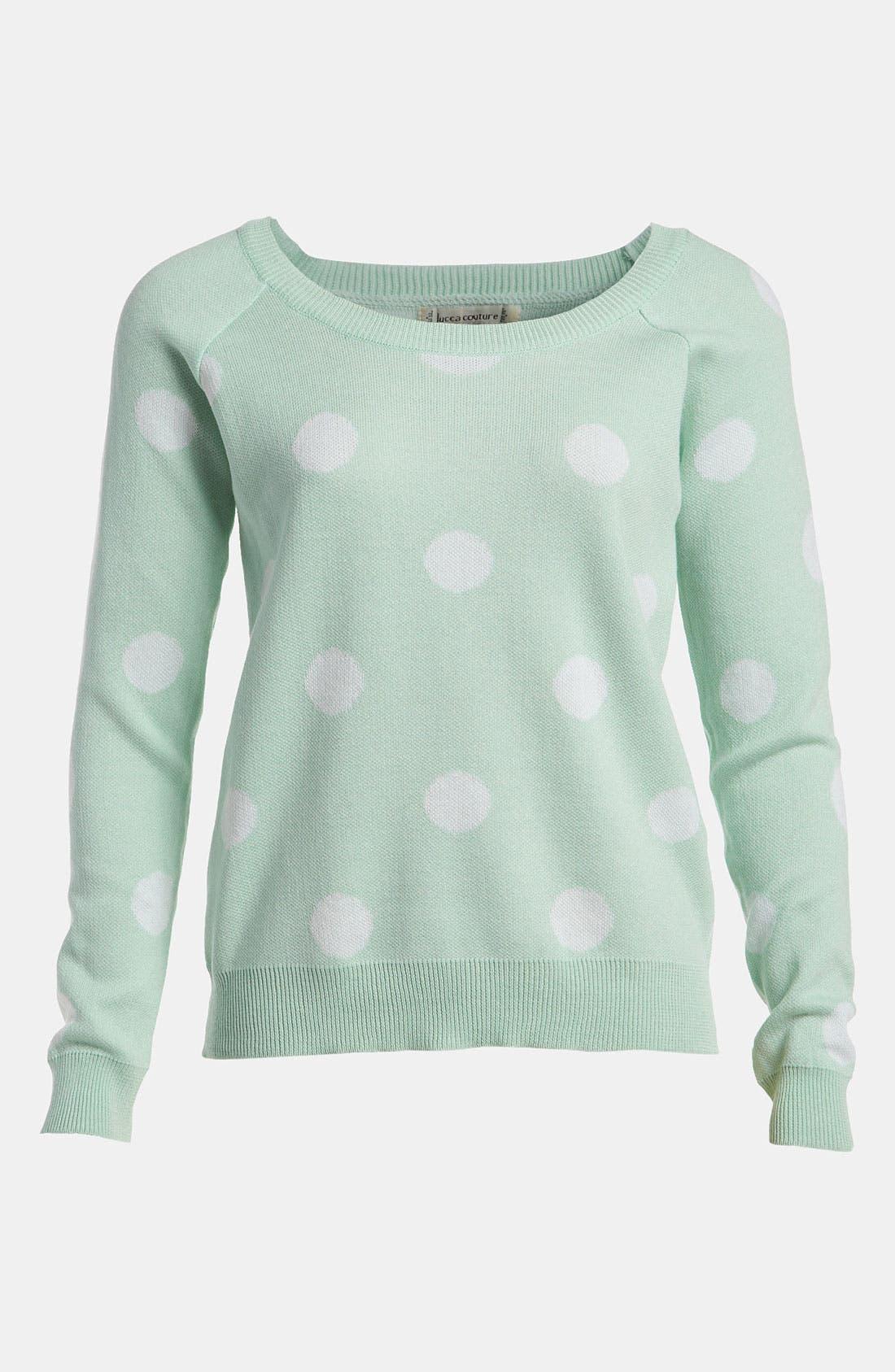 Polka Dot Sweater,                             Main thumbnail 1, color,                             442