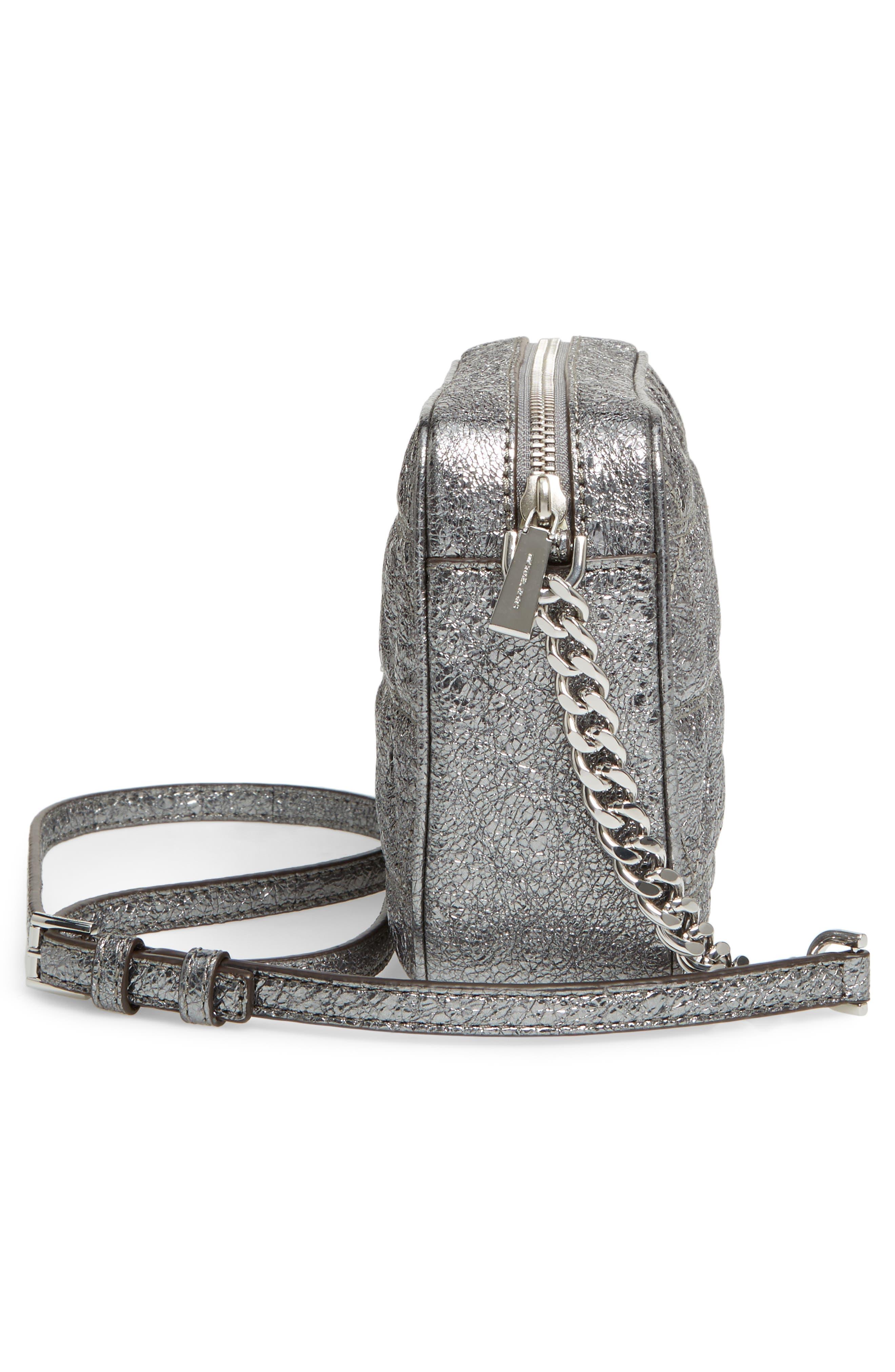 Medium Ginny Leather Camera Bag,                             Alternate thumbnail 5, color,                             074
