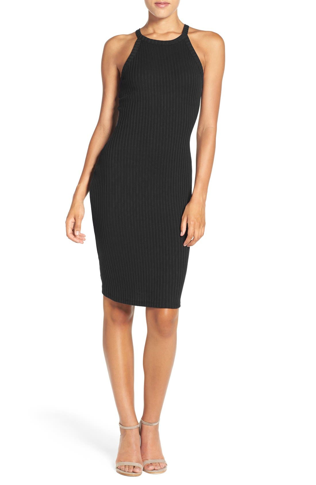 NSR Body-Con Sweater Dress, Main, color, 001
