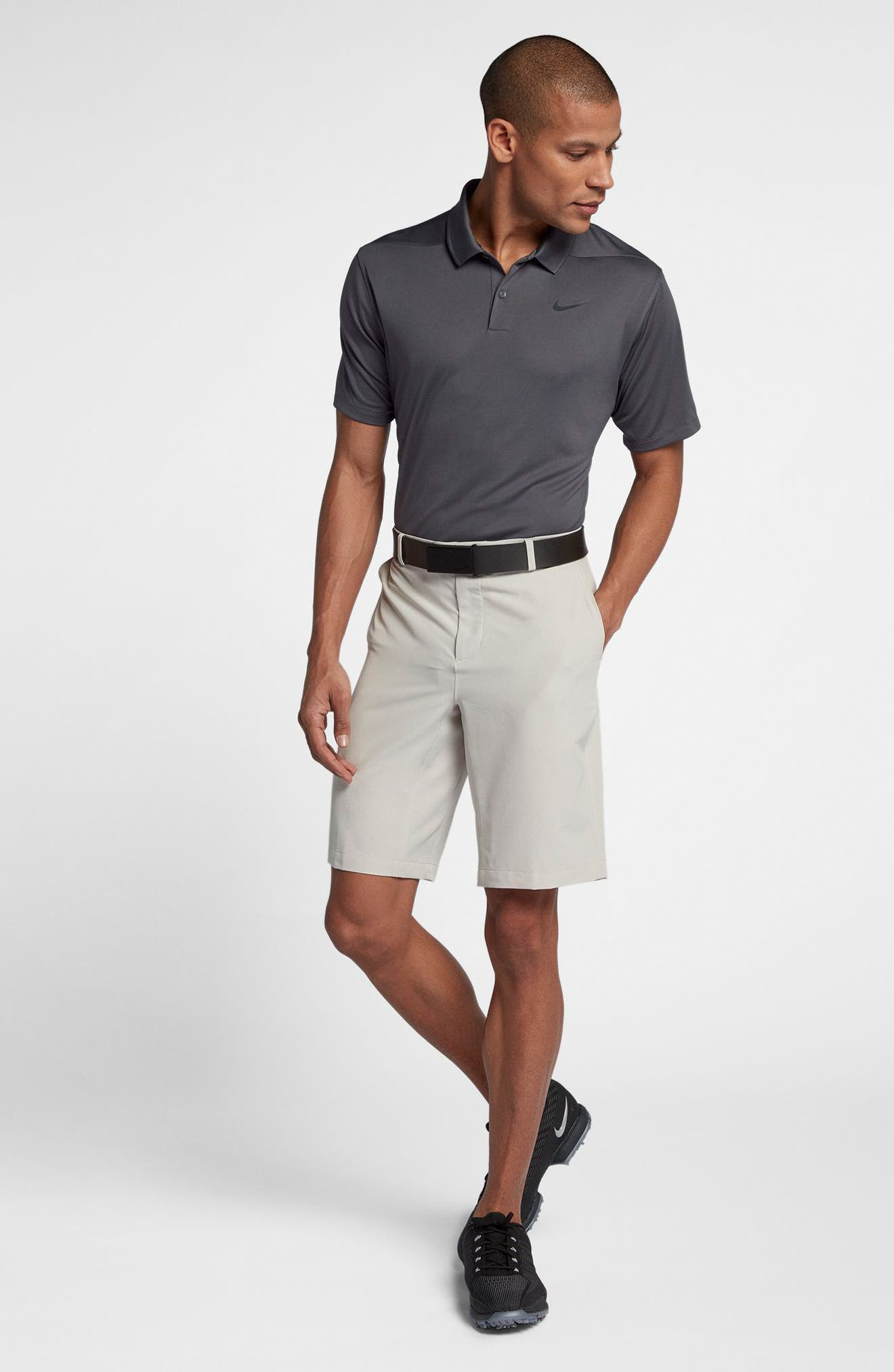 Dry Victory Golf Polo,                             Alternate thumbnail 4, color,                             DARK GREY/ BLACK