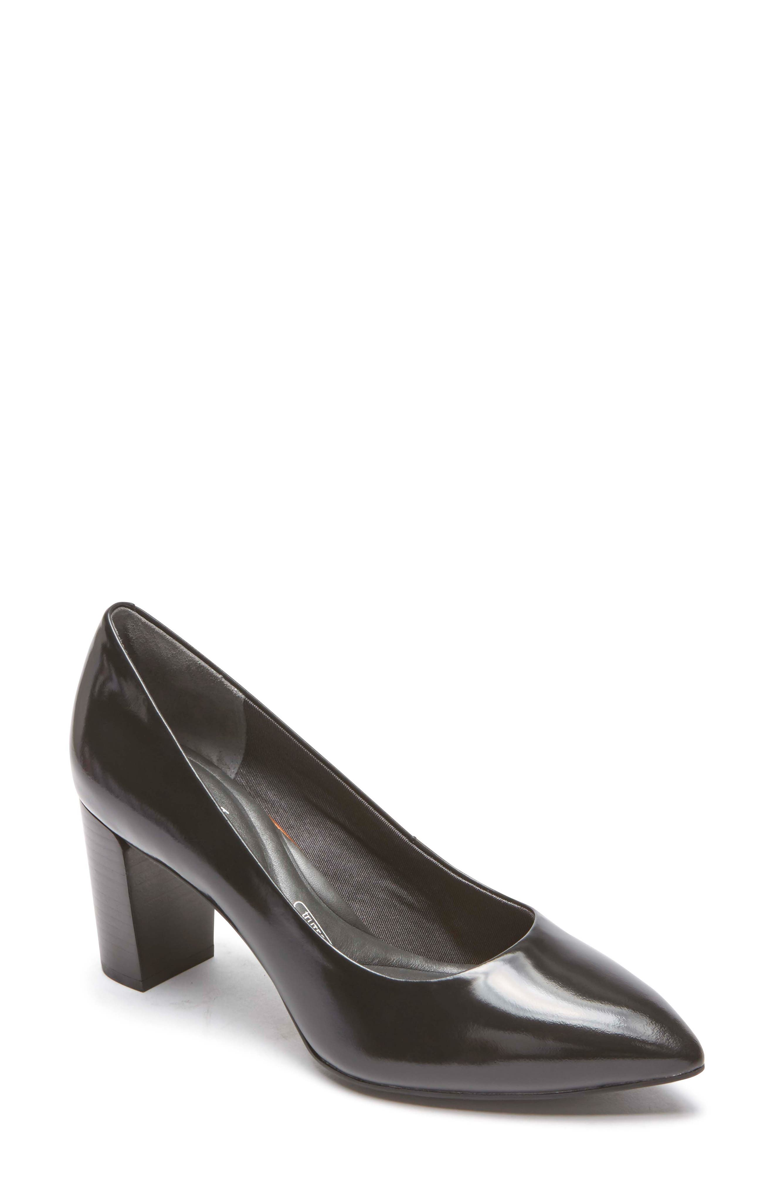 Total Motion Violina Luxe Pointy Toe Pump,                             Main thumbnail 1, color,                             BLACK PATENT LEATHER
