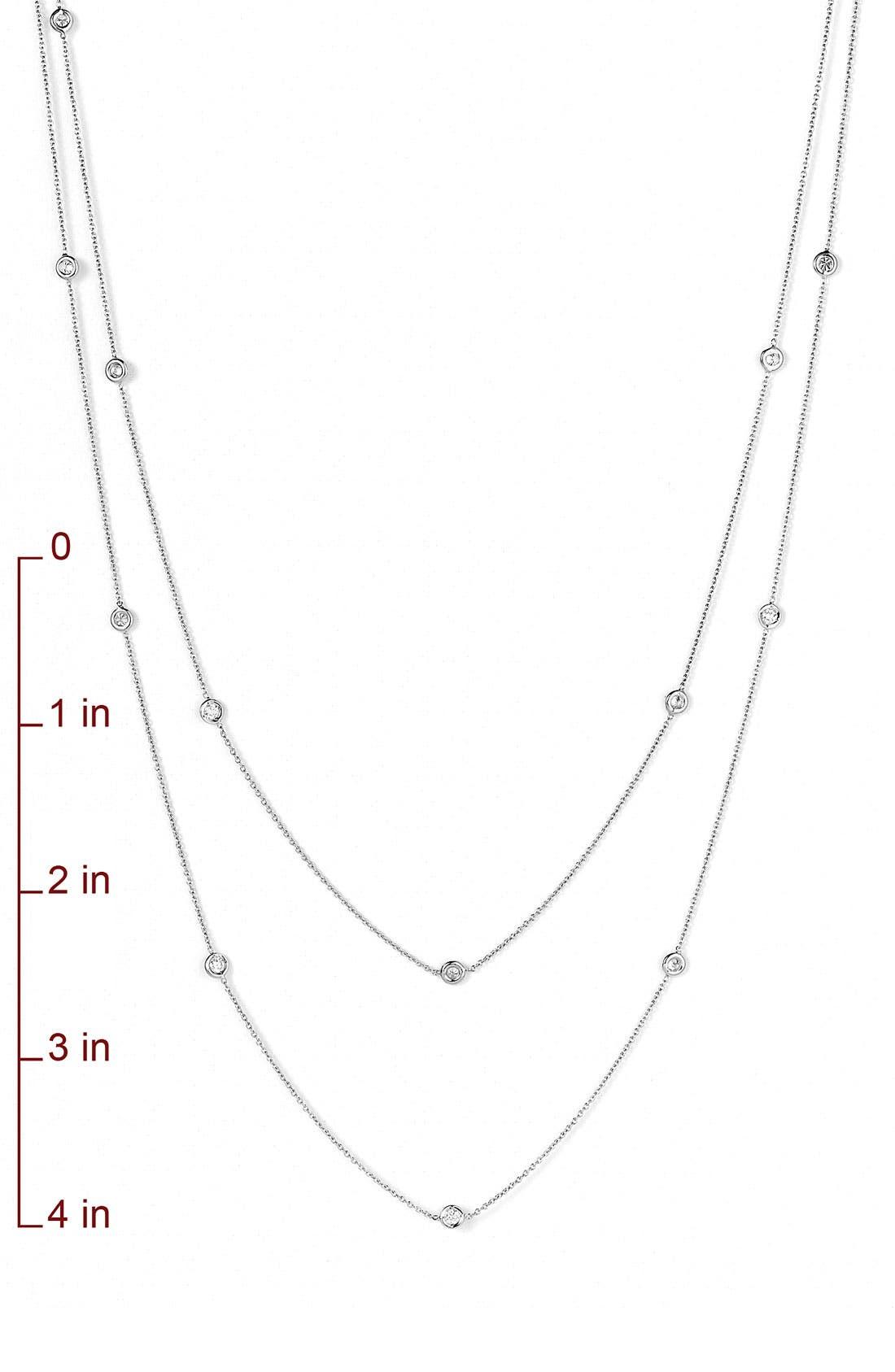 Diamond Station Necklace,                             Alternate thumbnail 7, color,
