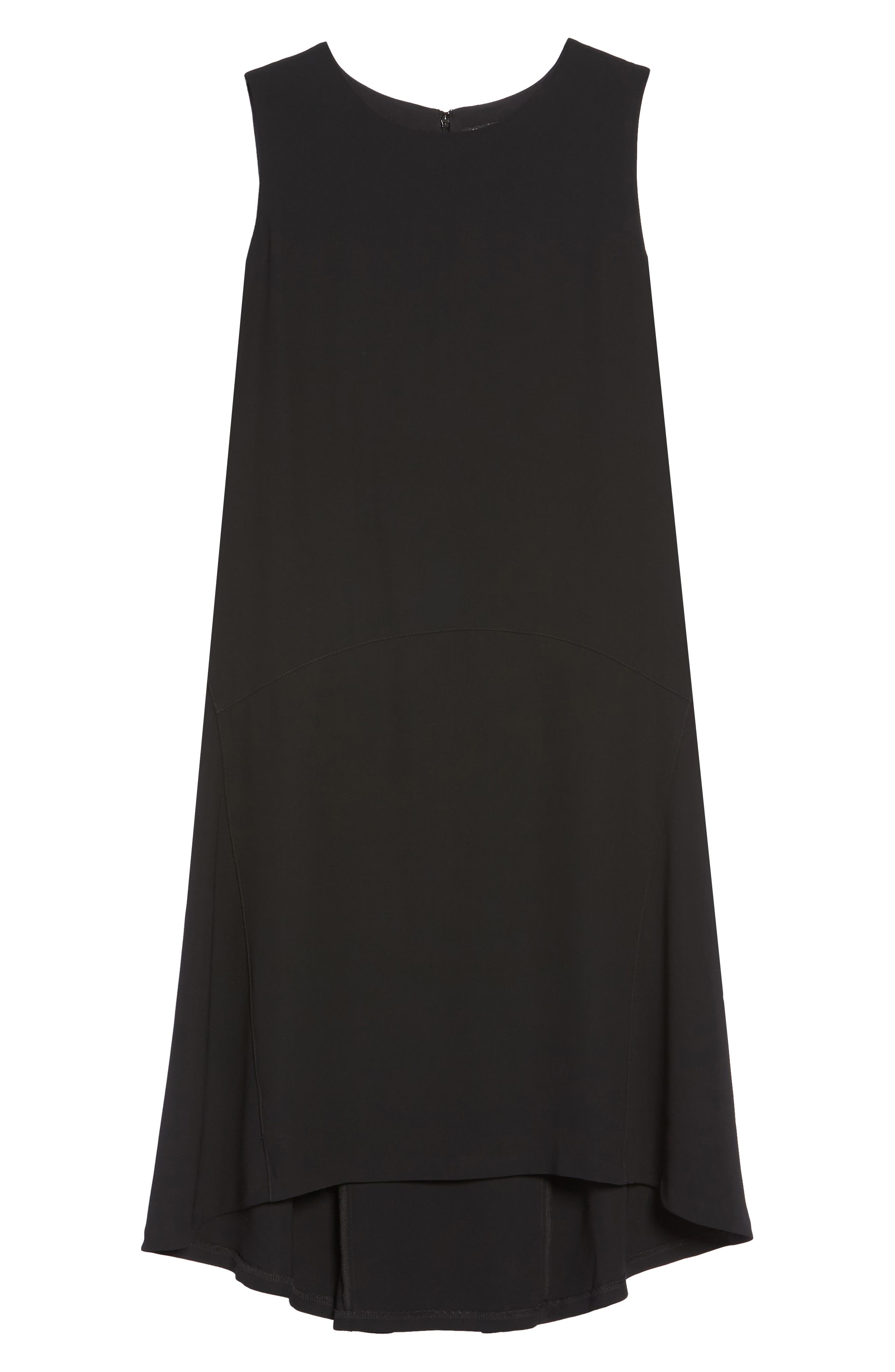 Drop Waist Shift Dress,                             Alternate thumbnail 6, color,                             001