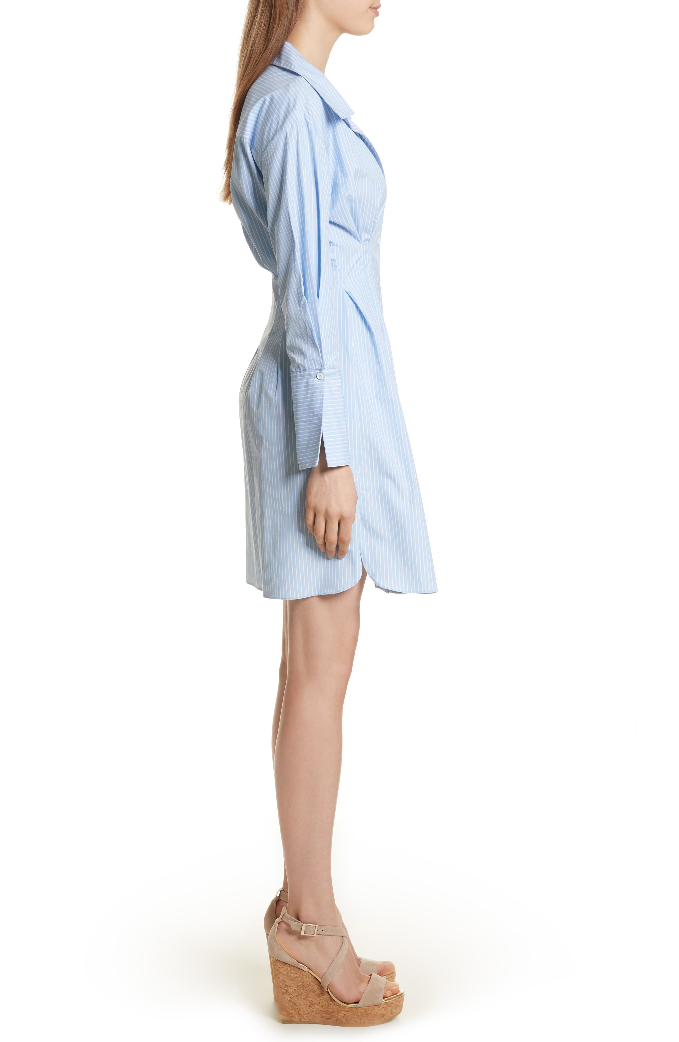 Vergie Seamed Shirtdress,                             Alternate thumbnail 3, color,                             490