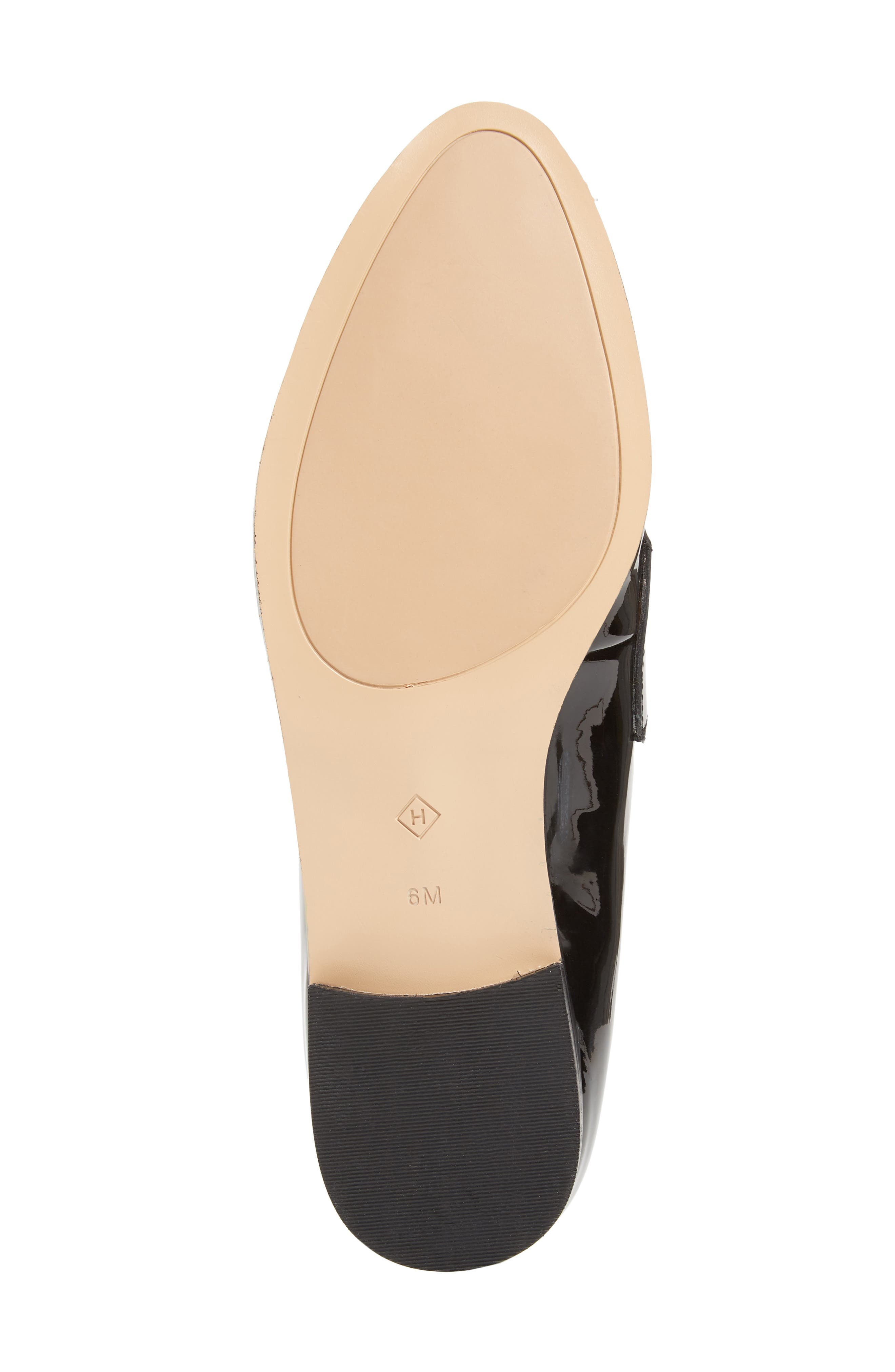 Emilia Loafer,                             Alternate thumbnail 6, color,                             BLACK PATENT LEATHER