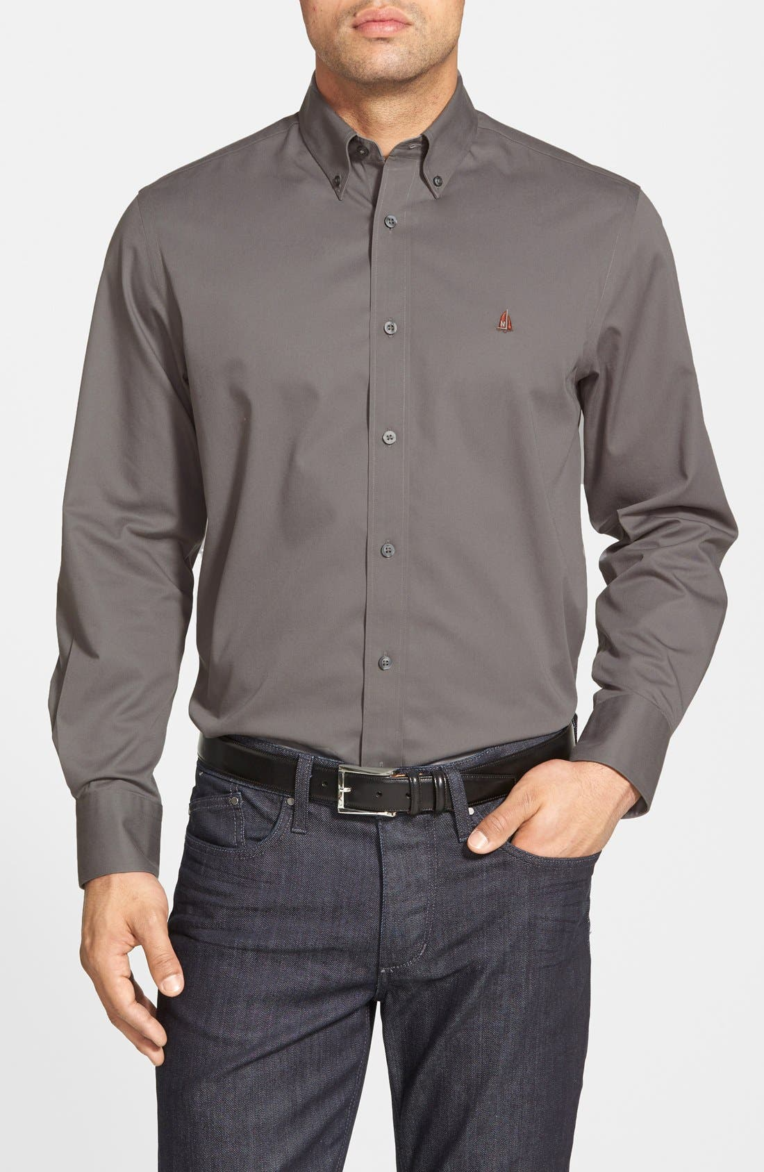Smartcare<sup>™</sup> Traditional Fit Twill Boat Shirt,                             Main thumbnail 7, color,