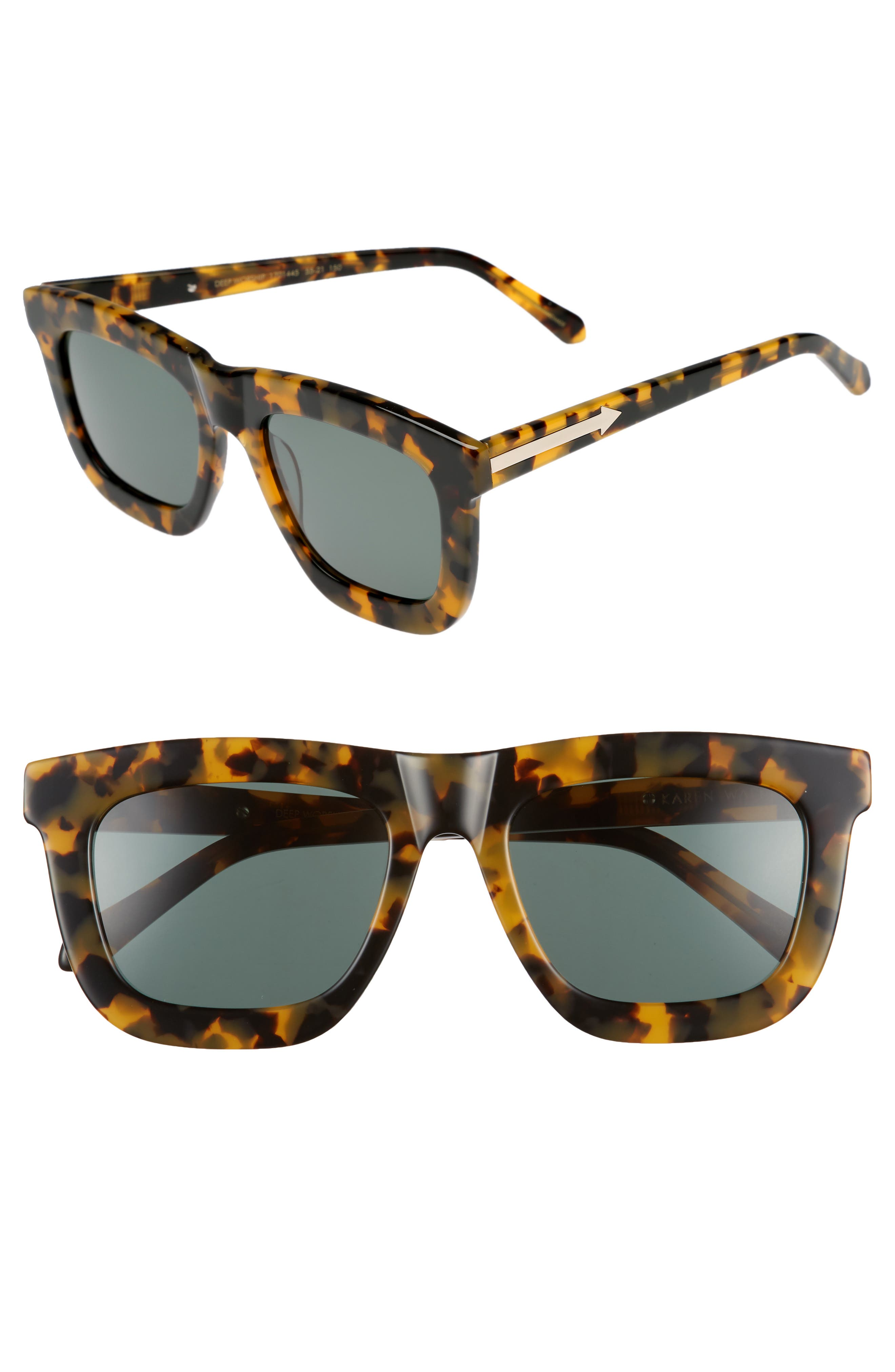 KAREN WALKER,                             Deep Worship 55mm Sunglasses,                             Main thumbnail 1, color,                             200